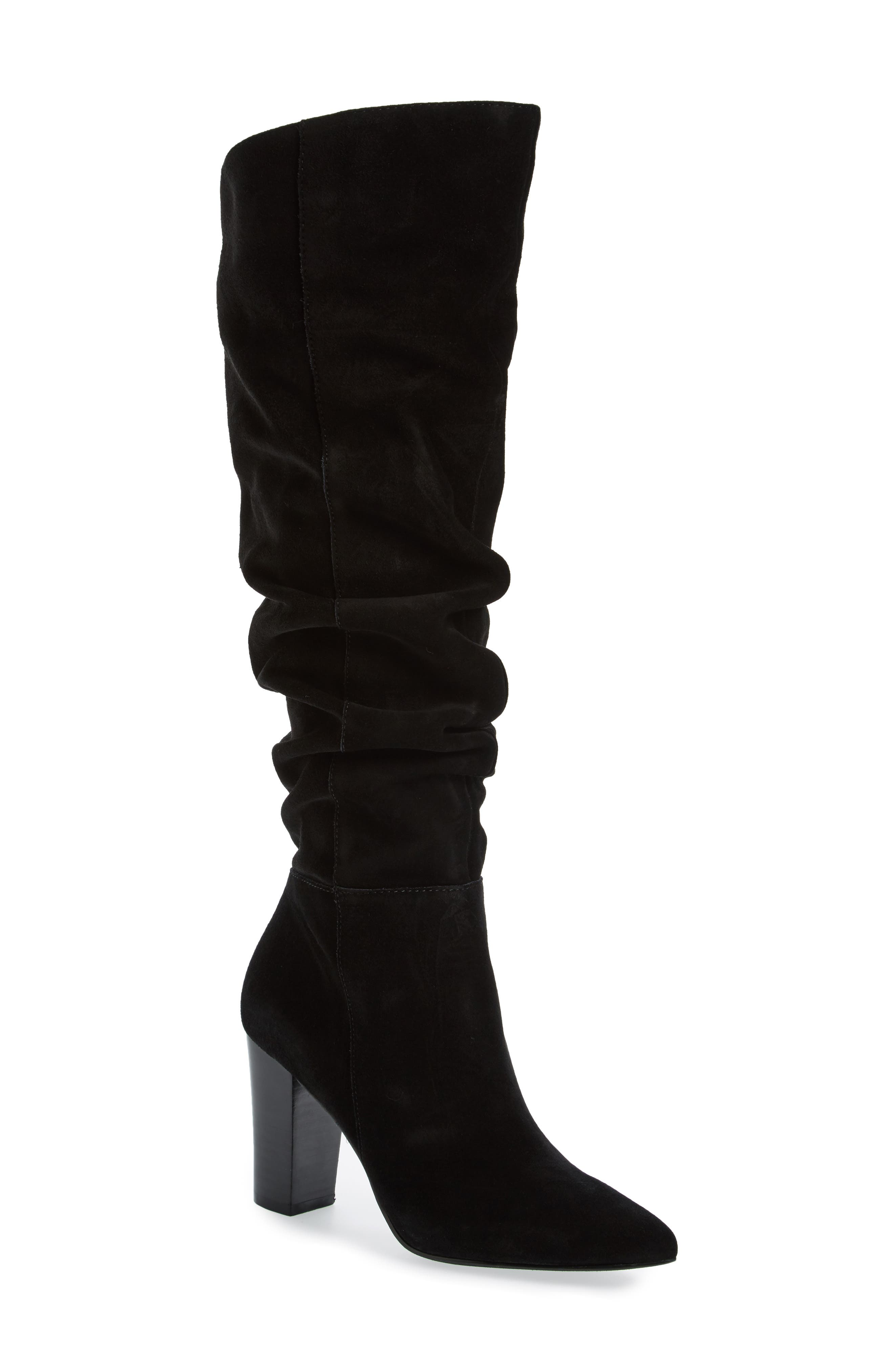 x Something Navy Aiden Knee High Boot,                             Main thumbnail 1, color,                             001