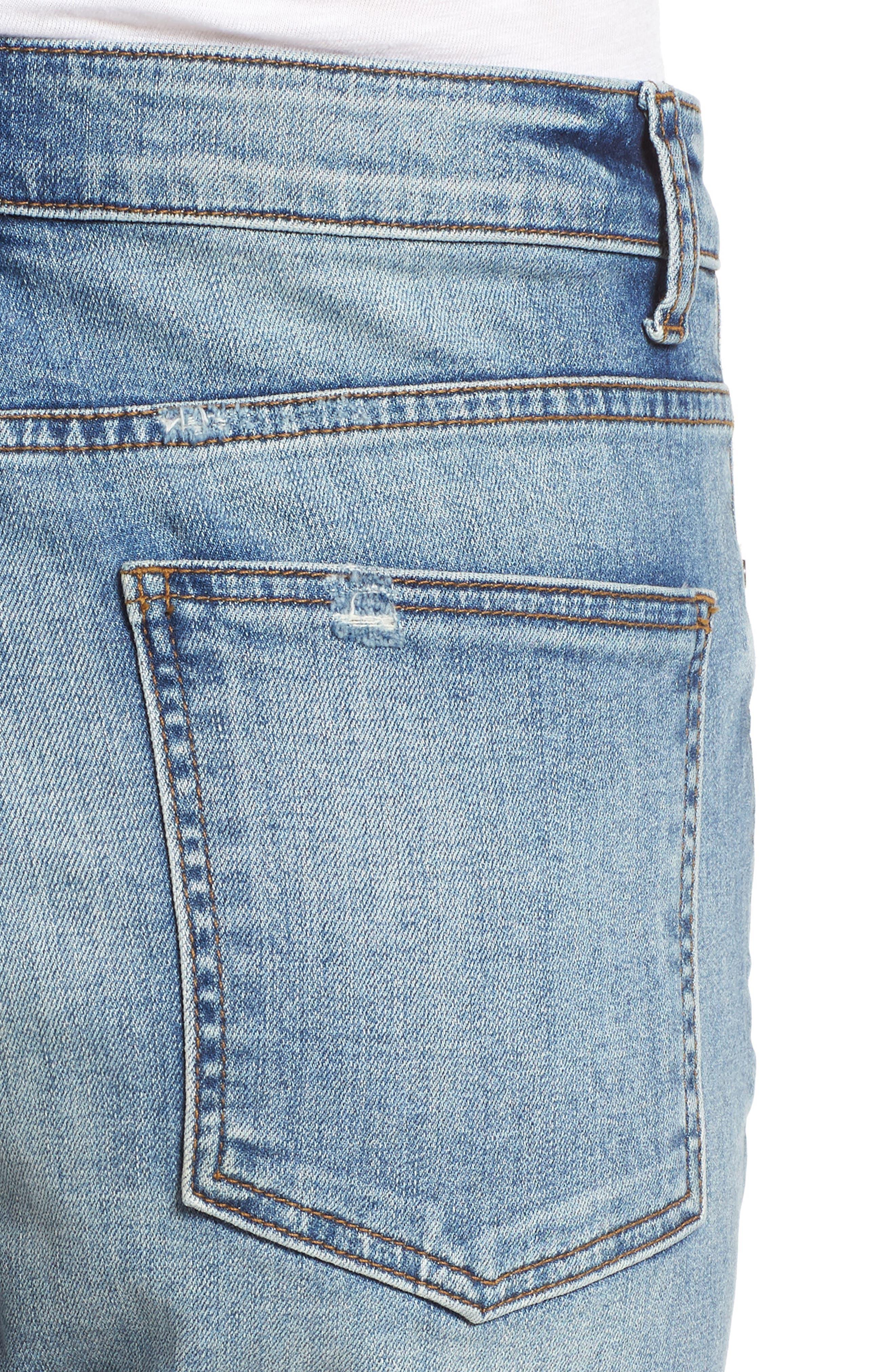 High Waist Crop Jeans,                             Alternate thumbnail 4, color,                             400