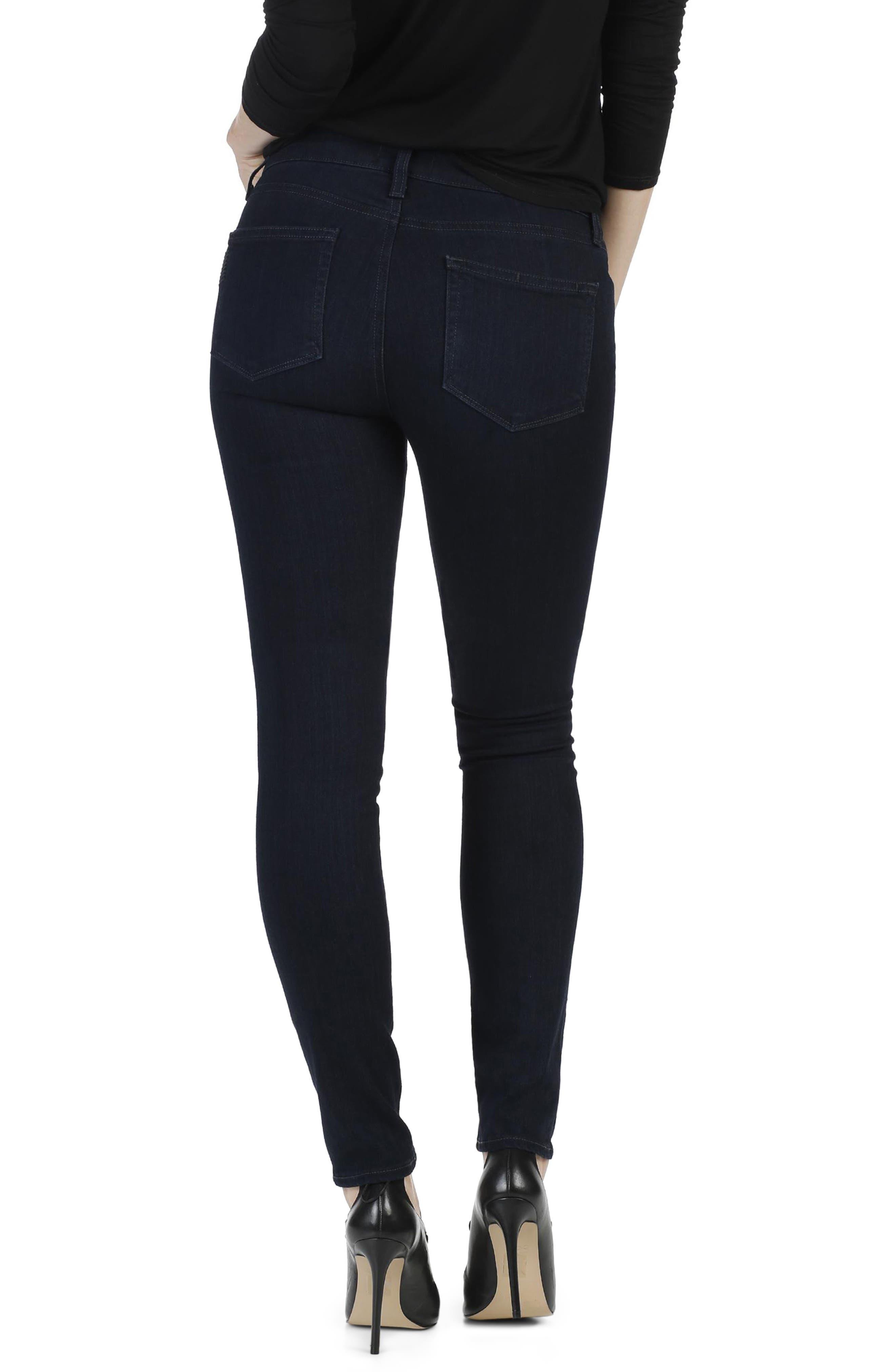 Transcend - Edgemont High Waist Ultra Skinny Jeans,                             Alternate thumbnail 3, color,                             400
