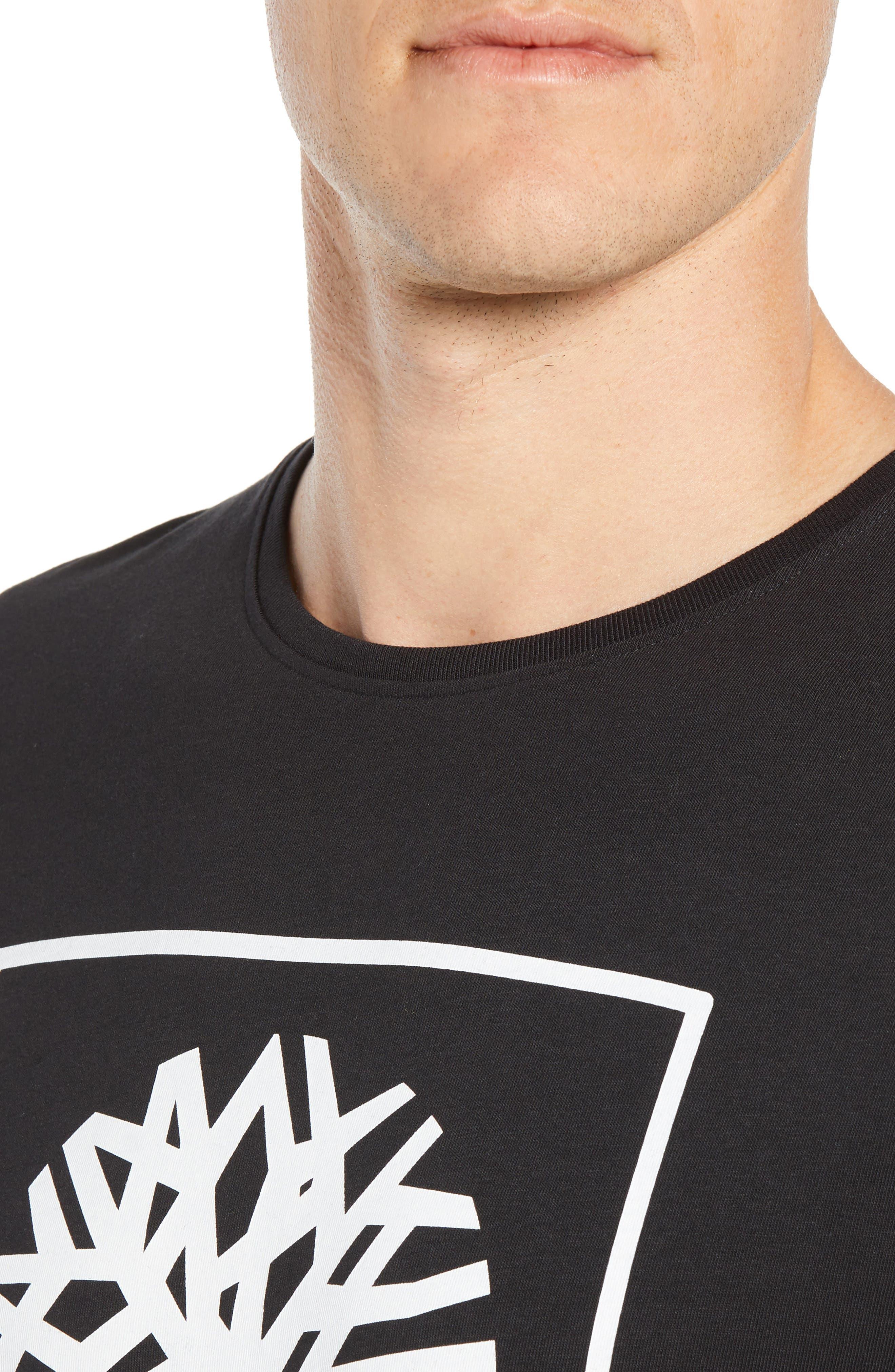 Core Logo T-Shirt,                             Alternate thumbnail 4, color,                             BLACK