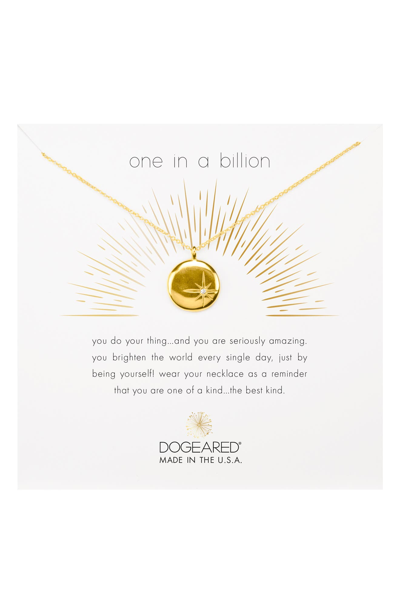 One in a Billion Pendant Necklace,                             Main thumbnail 3, color,