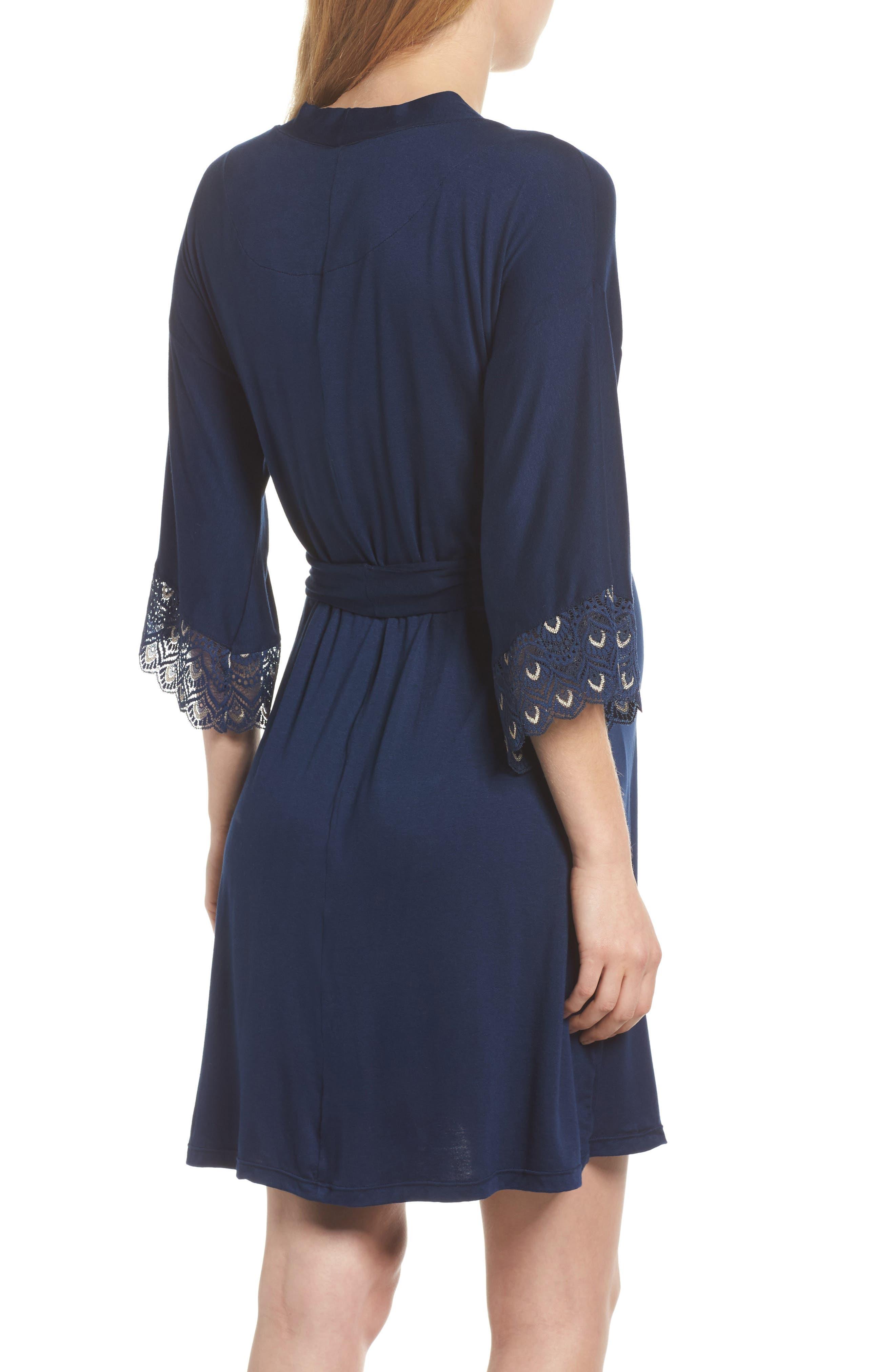 'Tallulah' Maternity Jersey Robe,                             Alternate thumbnail 3, color,