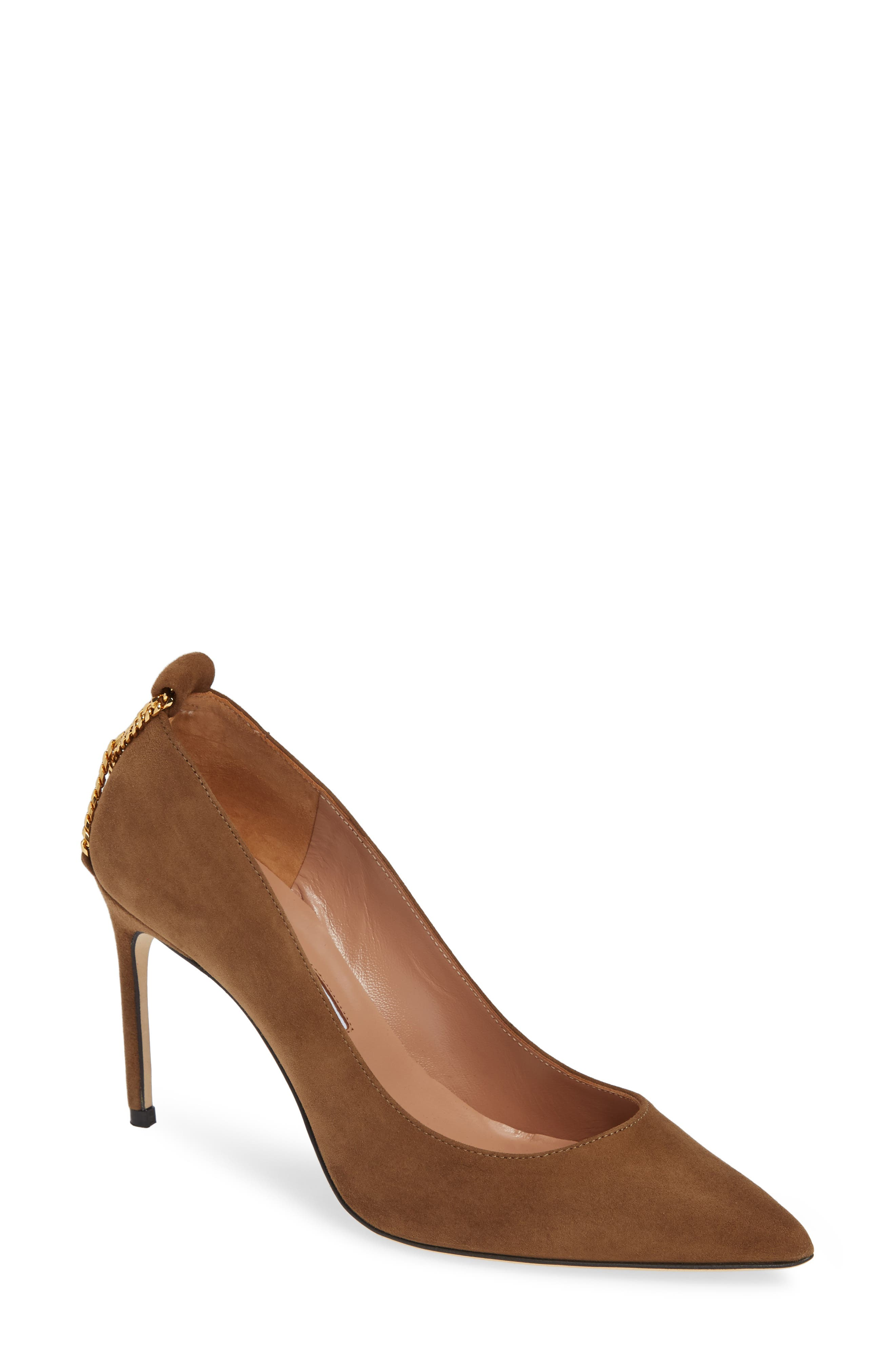 BRIAN ATWOOD Voyage Pump in Khaki Suede