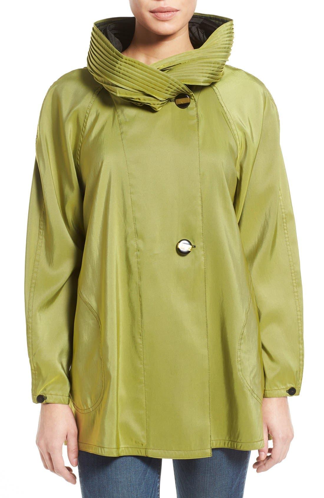 'Mini Donatella' Reversible Pleat Hood Packable Travel Coat,                             Main thumbnail 14, color,