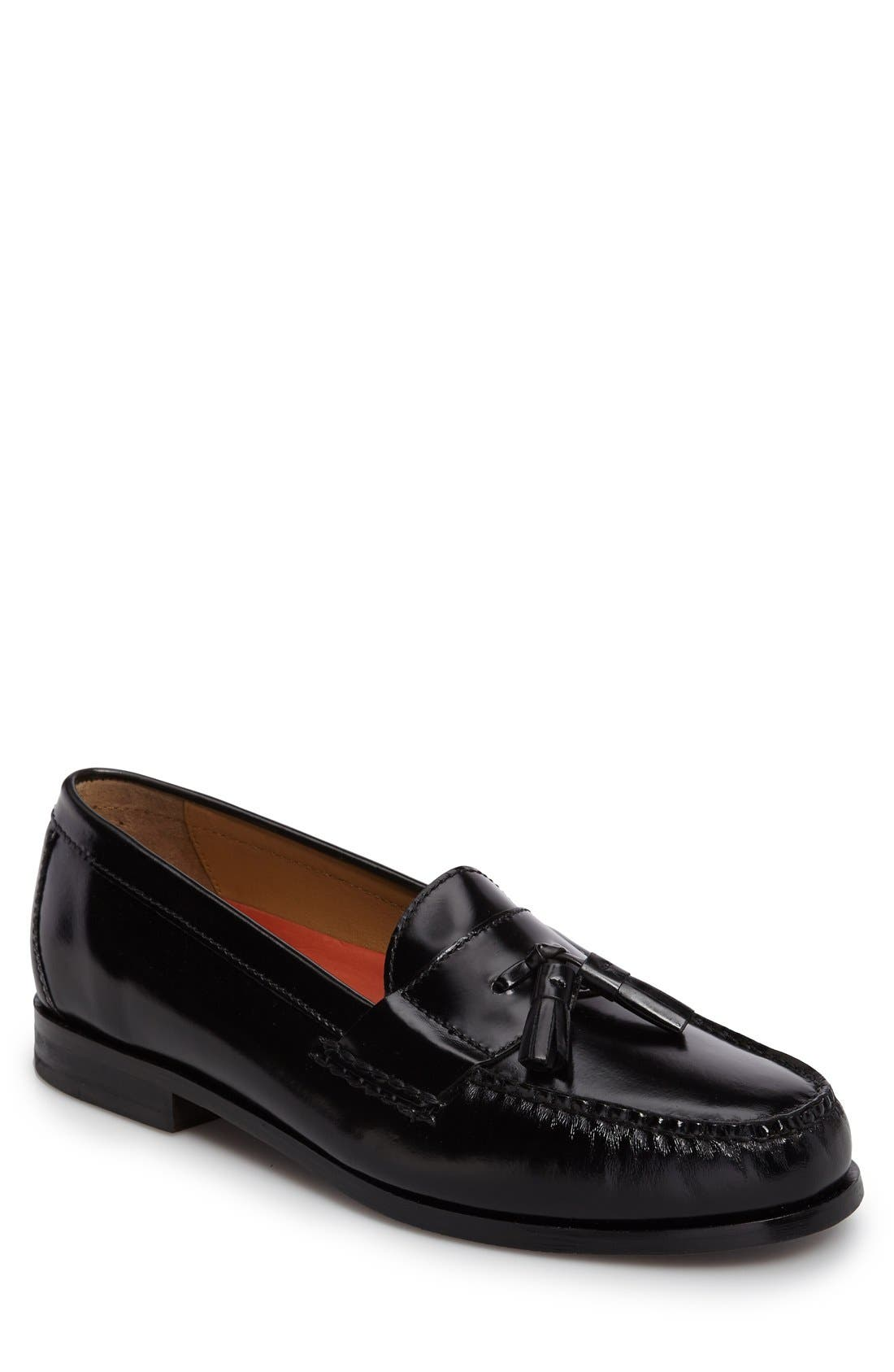 'Pinch Grand' Tassel Loafer,                             Alternate thumbnail 7, color,                             001