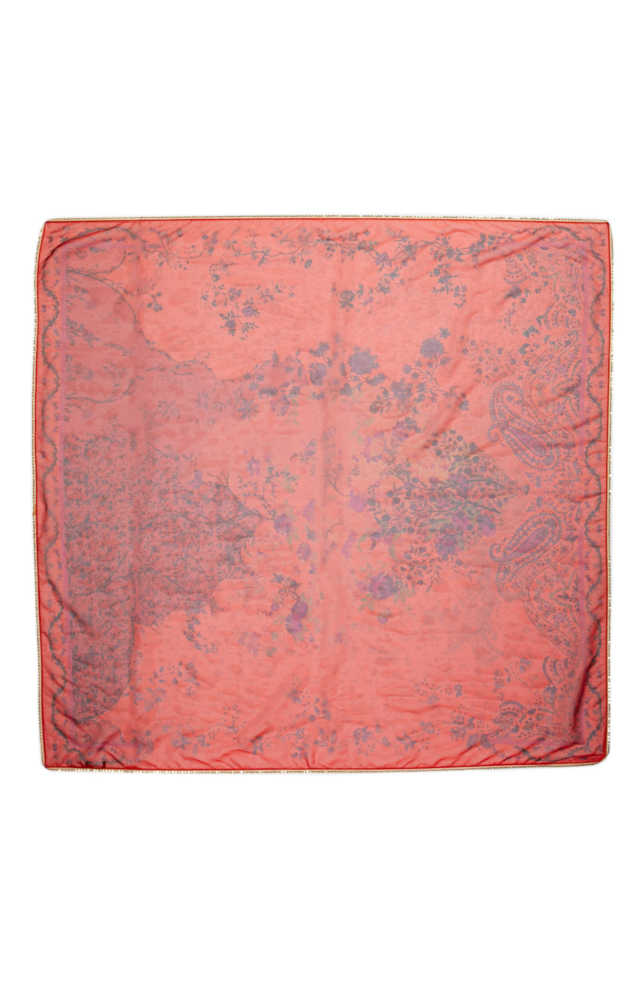 Bombay Silk Scarf,                             Alternate thumbnail 3, color,                             600