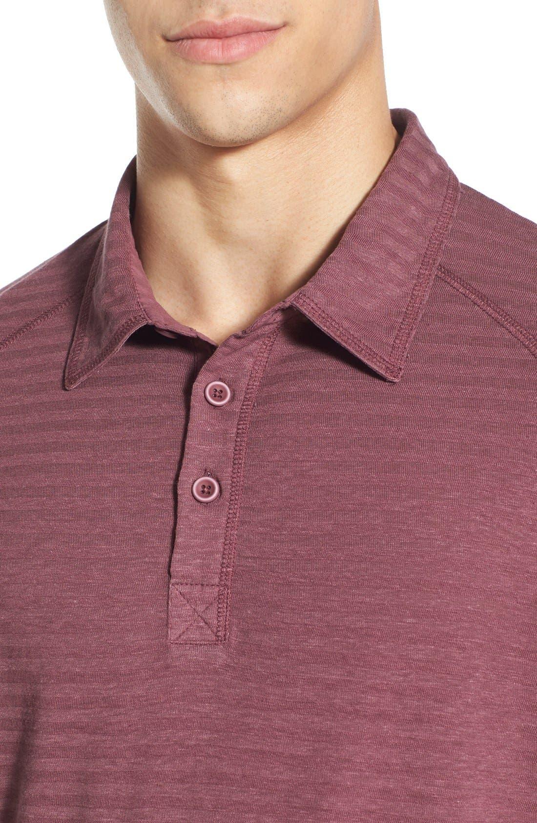 'Drake' Stripe Polo,                             Alternate thumbnail 4, color,                             580