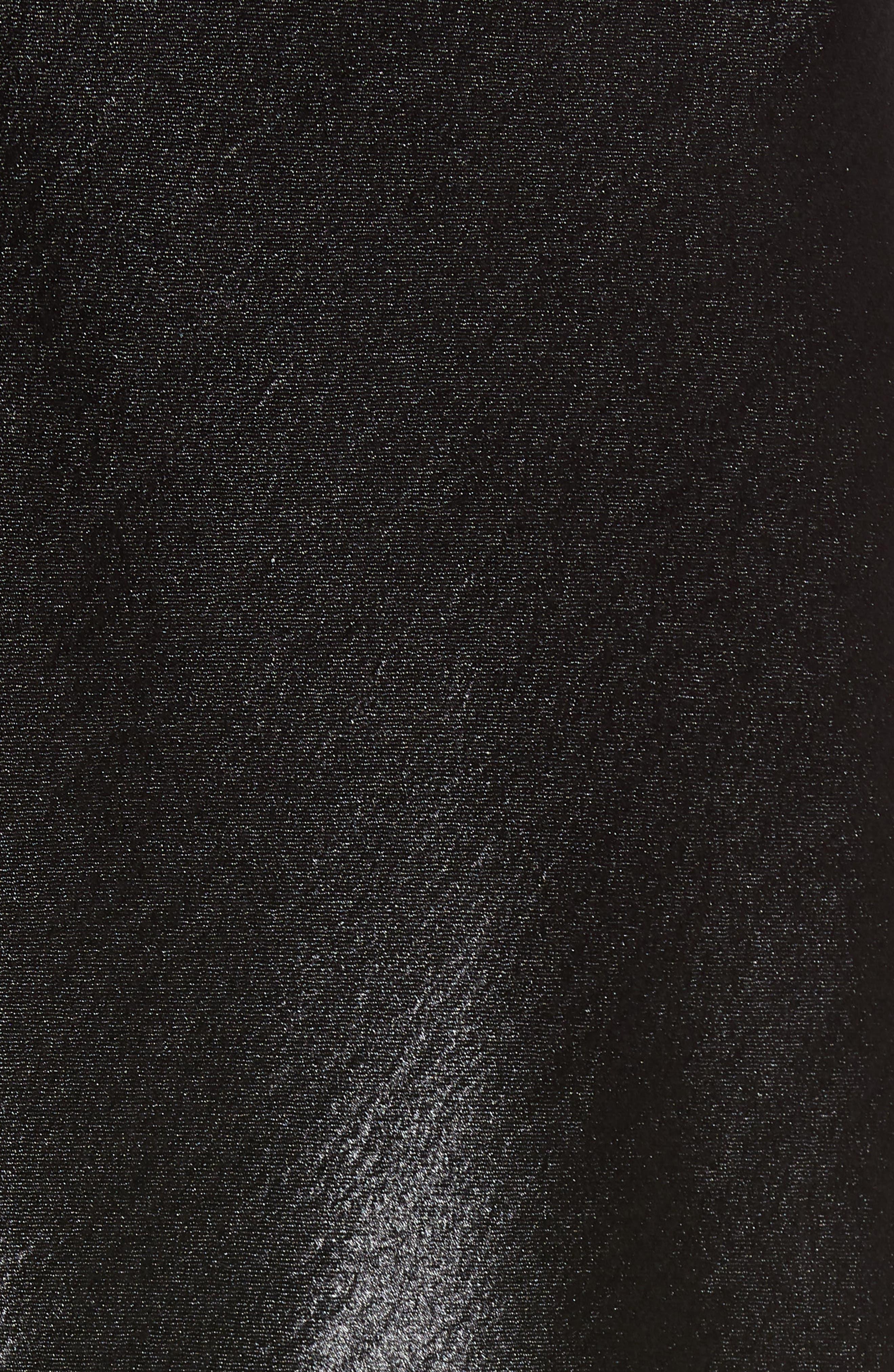Satin Midi Skirt,                             Alternate thumbnail 5, color,                             BLACK
