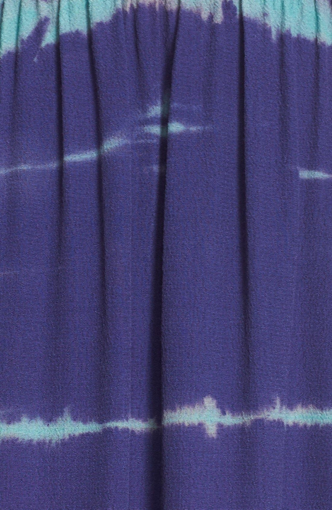 Tie Dye Crepe Maxi Dress,                             Alternate thumbnail 5, color,                             410
