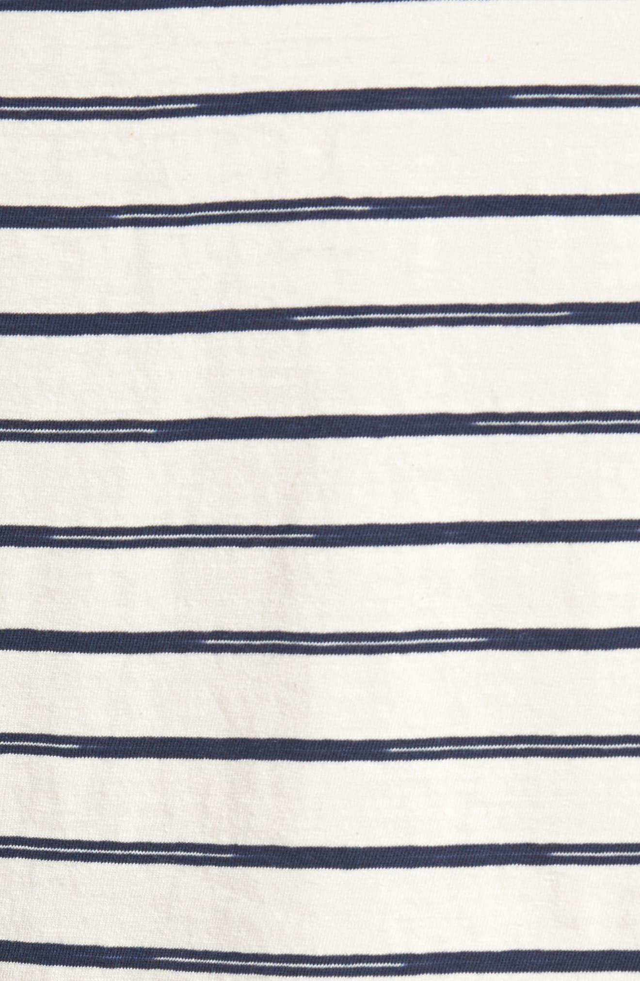 Vintage Stripe Pocket T-Shirt,                             Alternate thumbnail 5, color,                             101