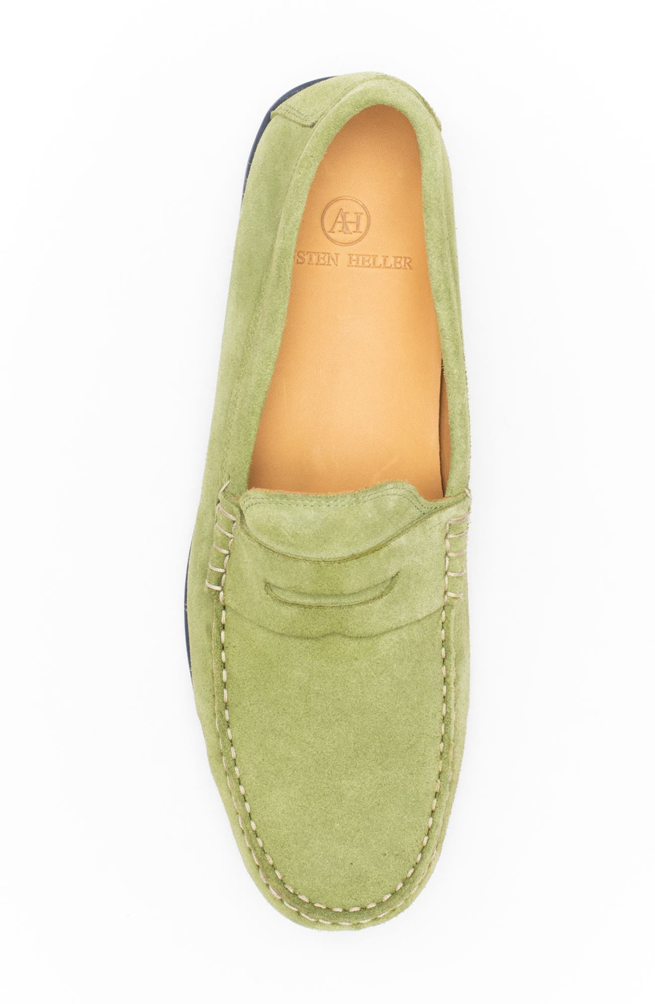 'Parkers' Penny Loafer,                             Alternate thumbnail 5, color,                             SPRING GREEN