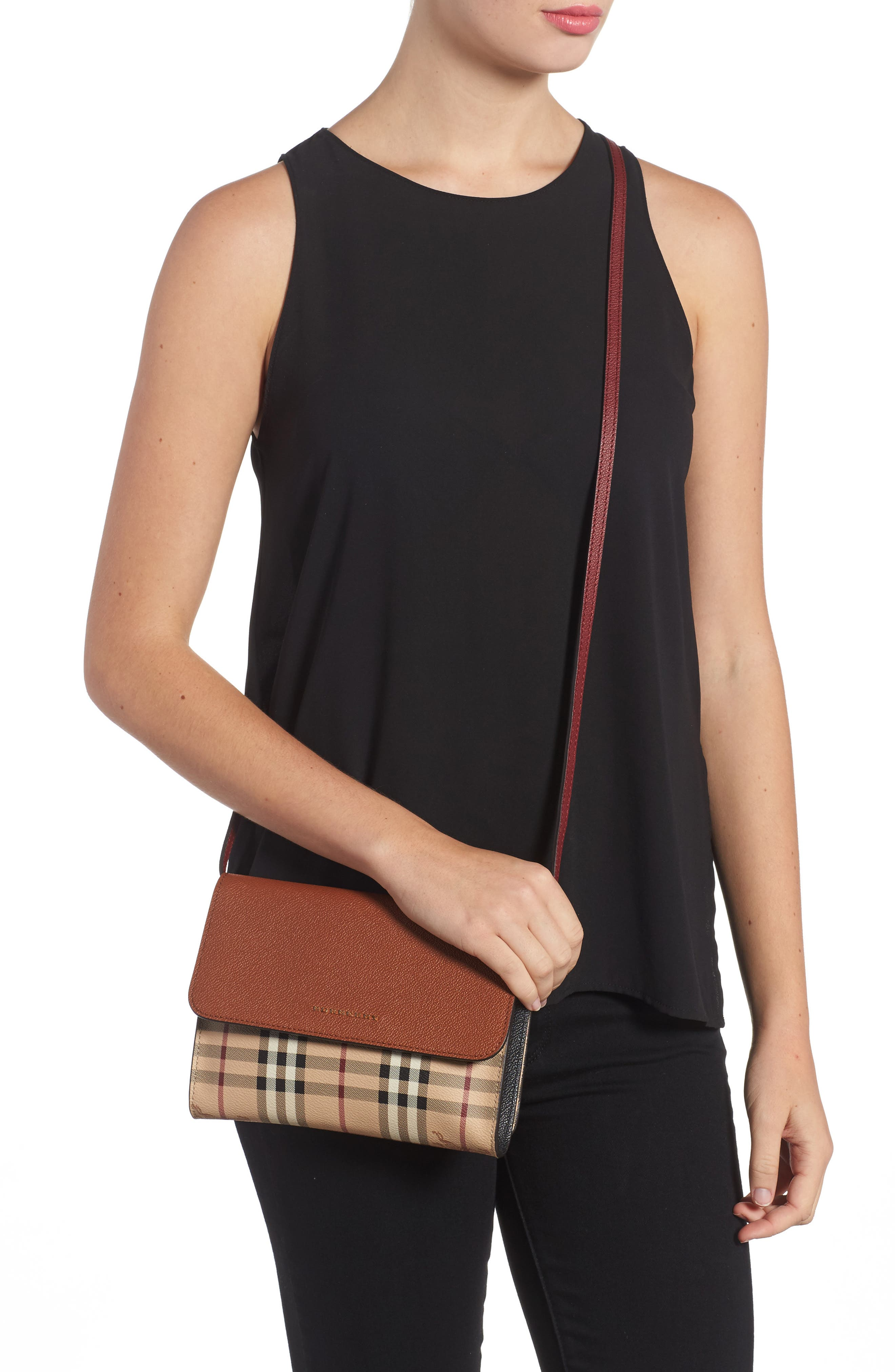 Peyton Check Coated Canvas & Leather Crossbody Bag,                             Alternate thumbnail 2, color,                             265