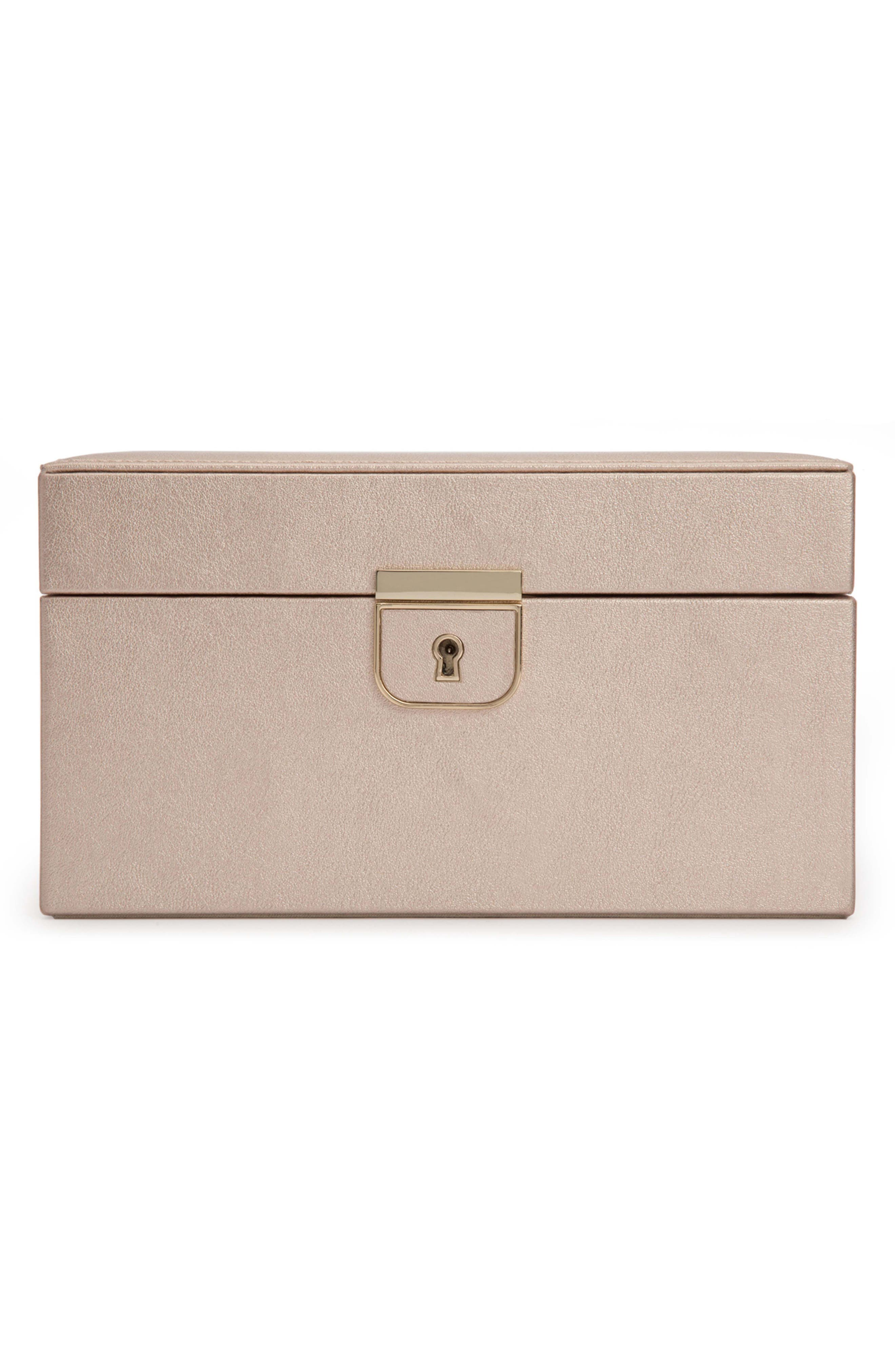 Palermo Small Jewelry Box,                         Main,                         color, ROSE GOLD