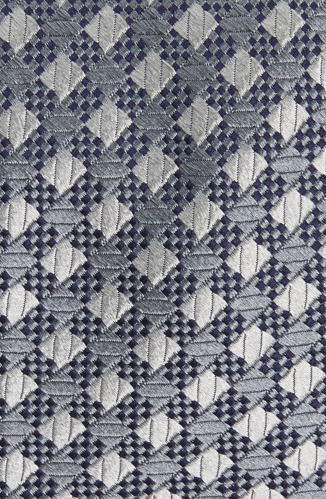 Ford Check Silk Tie,                             Alternate thumbnail 2, color,                             060