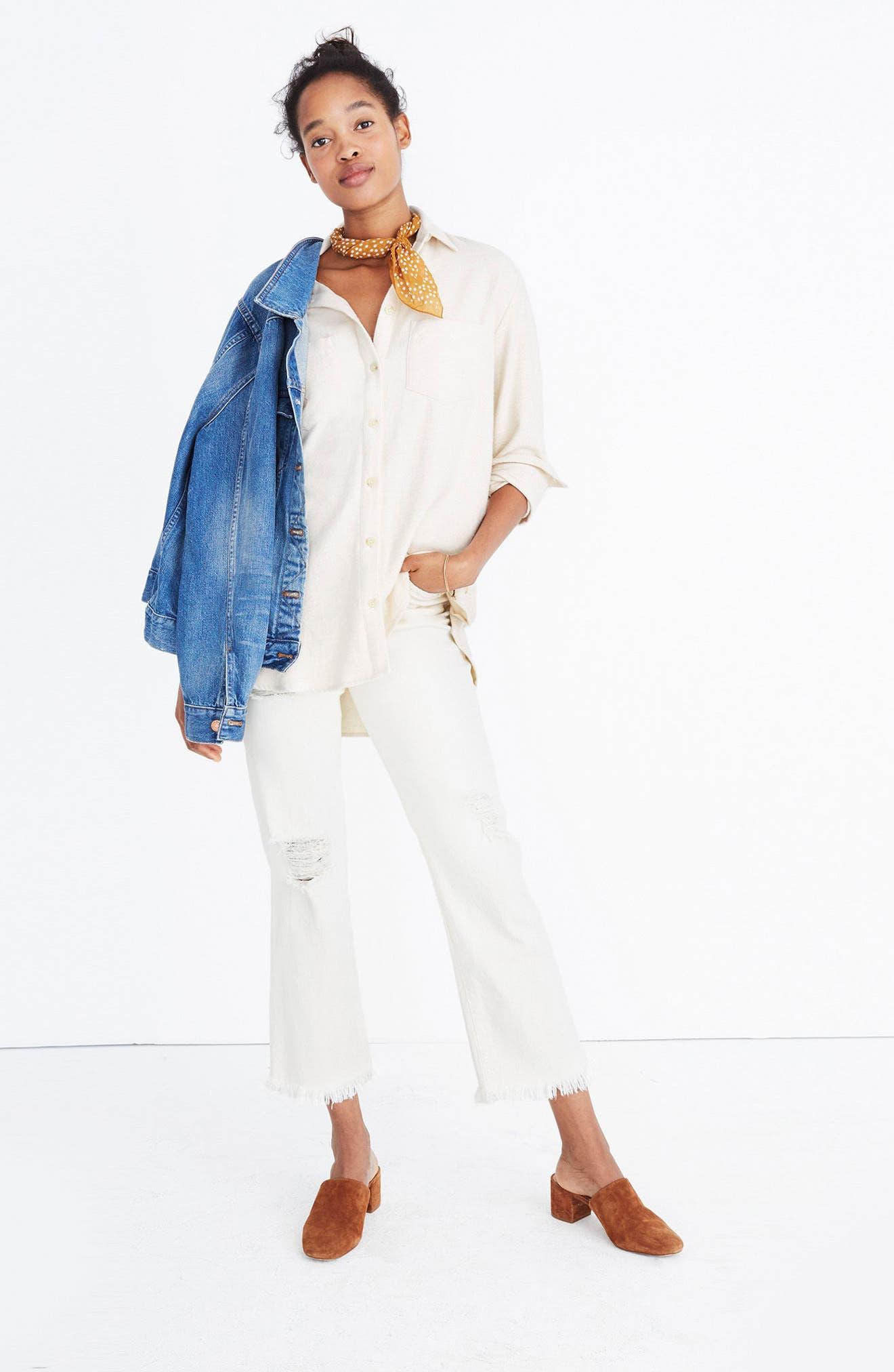 Ex-Boyfriend Side Button Flannel Shirt,                             Main thumbnail 1, color,                             250