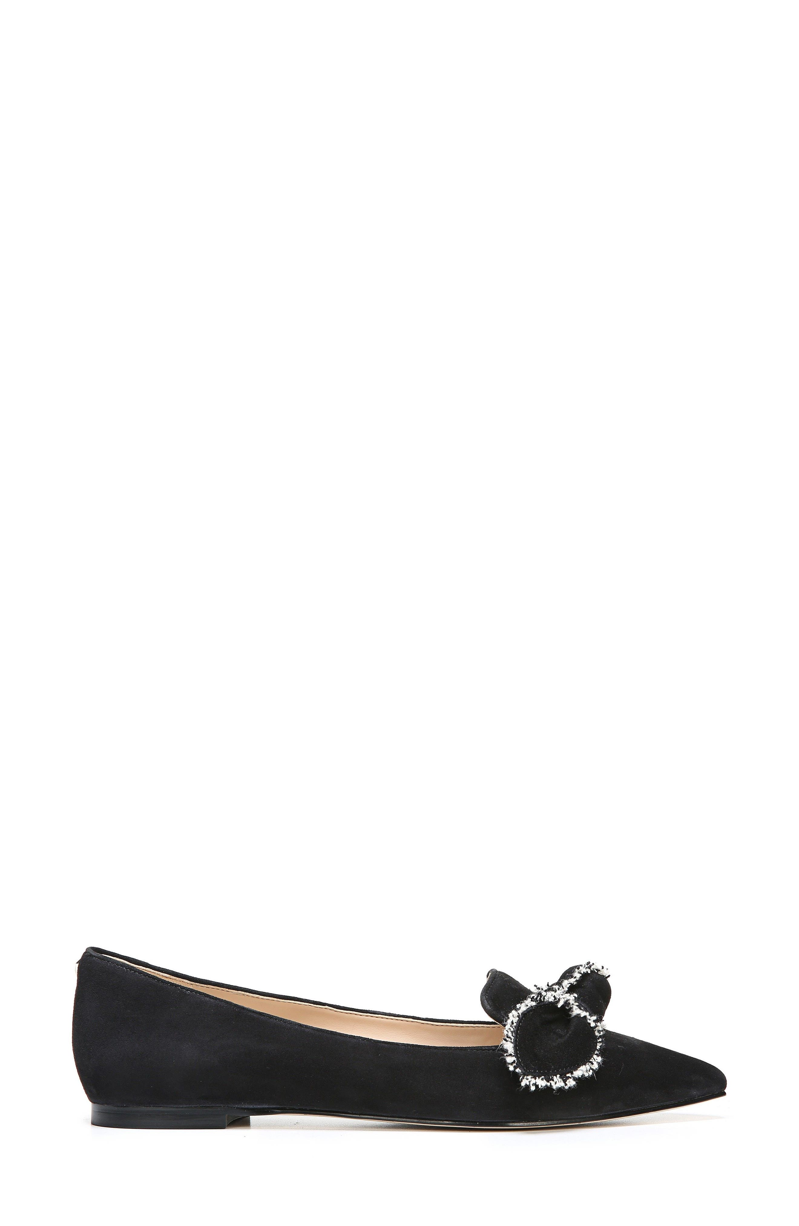Rochester Bow Pointy Toe Flat,                             Alternate thumbnail 8, color,