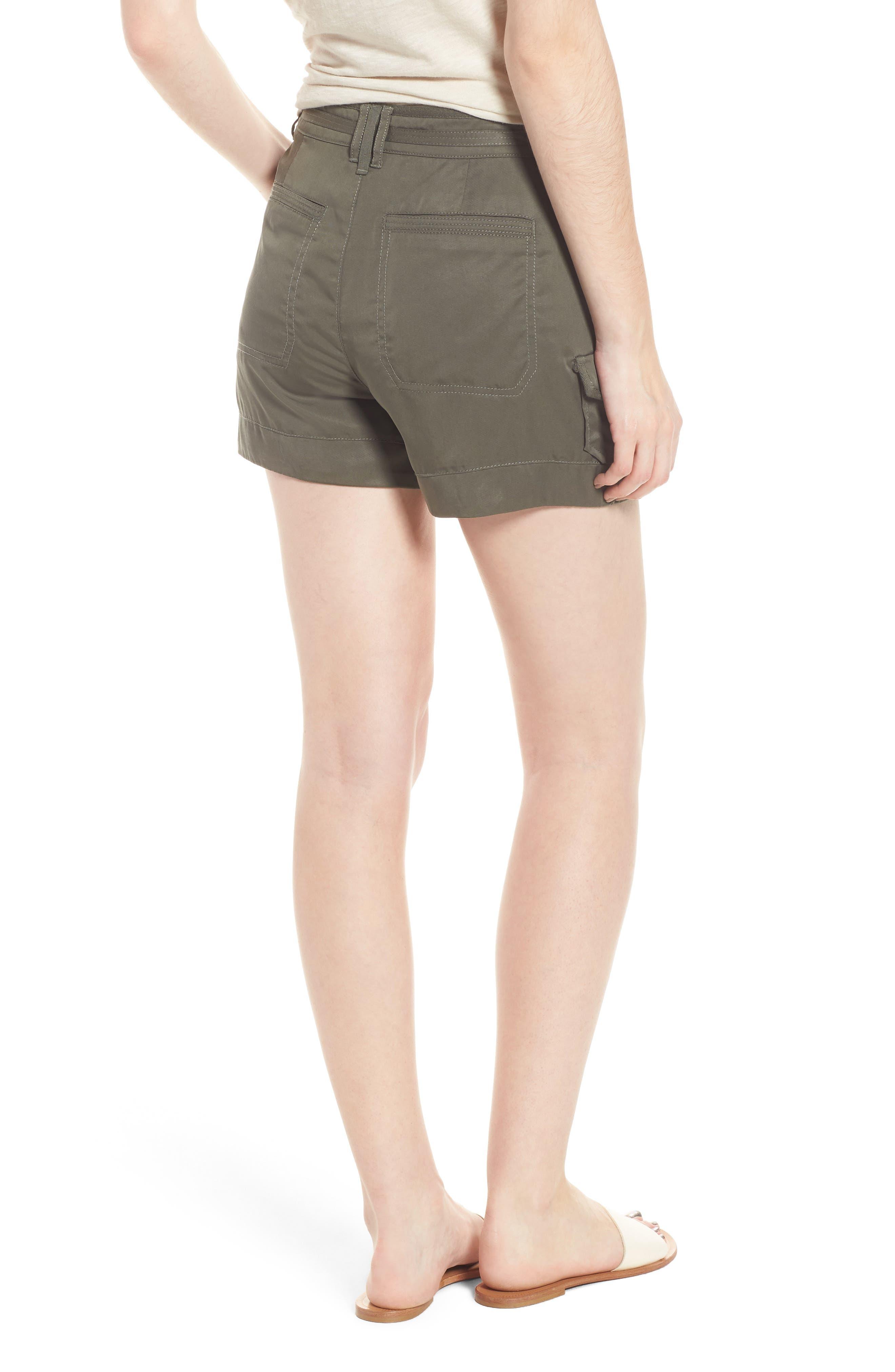 High Rise Tencel Shorts,                             Alternate thumbnail 8, color,