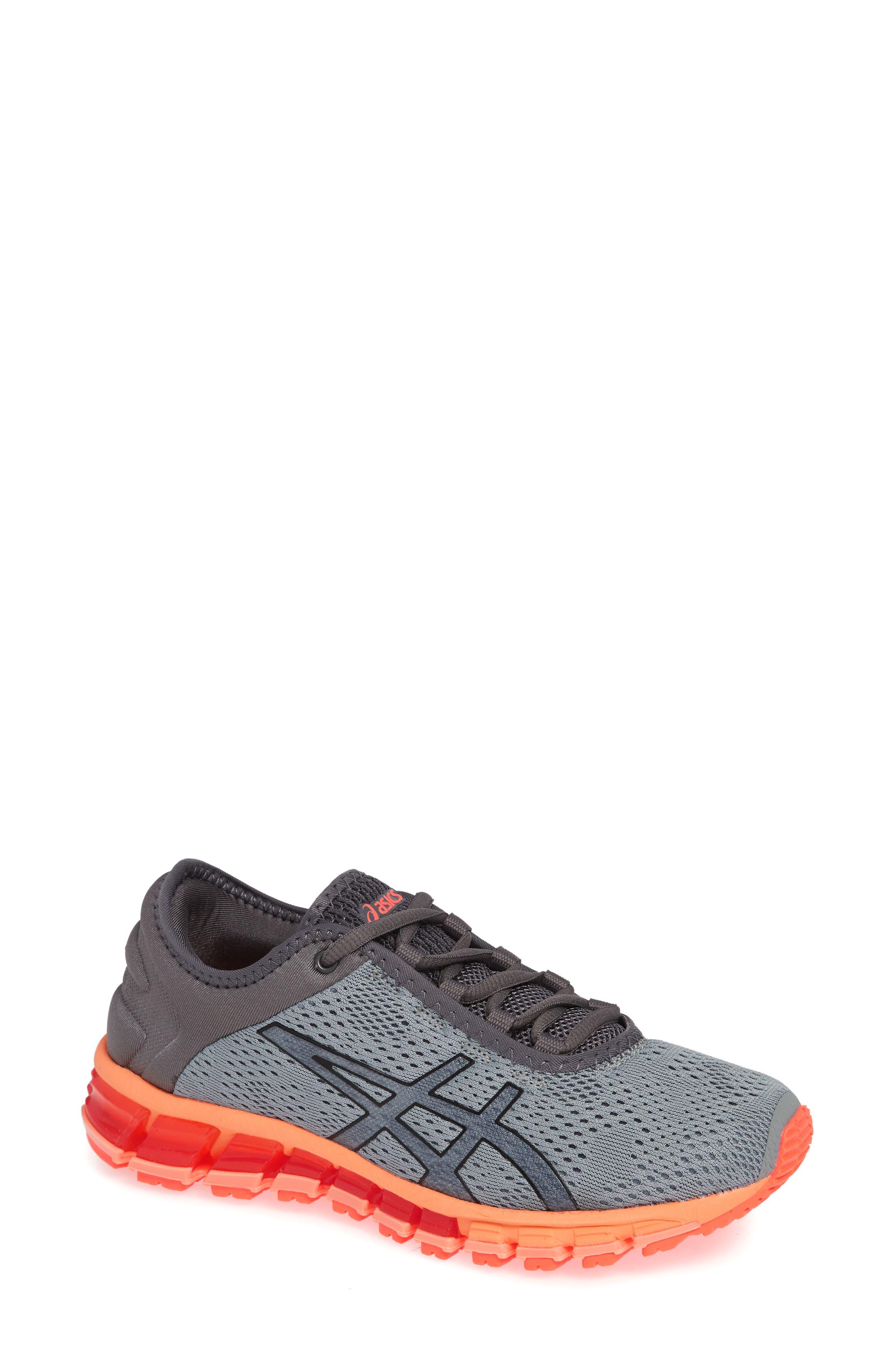 GEL Quantum 180 3 Running Shoe,                         Main,                         color, STONE GREY/ CARBON