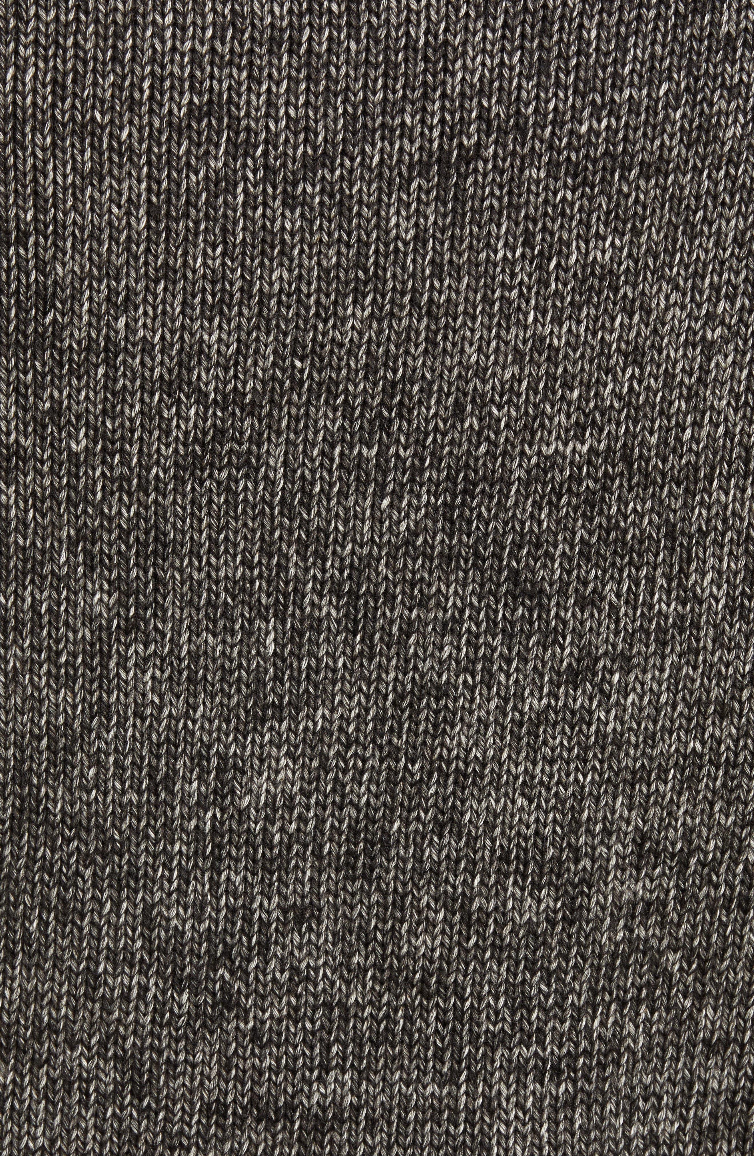 Multi Yarn Crewneck Raglan Sweater,                             Alternate thumbnail 5, color,                             BLACK