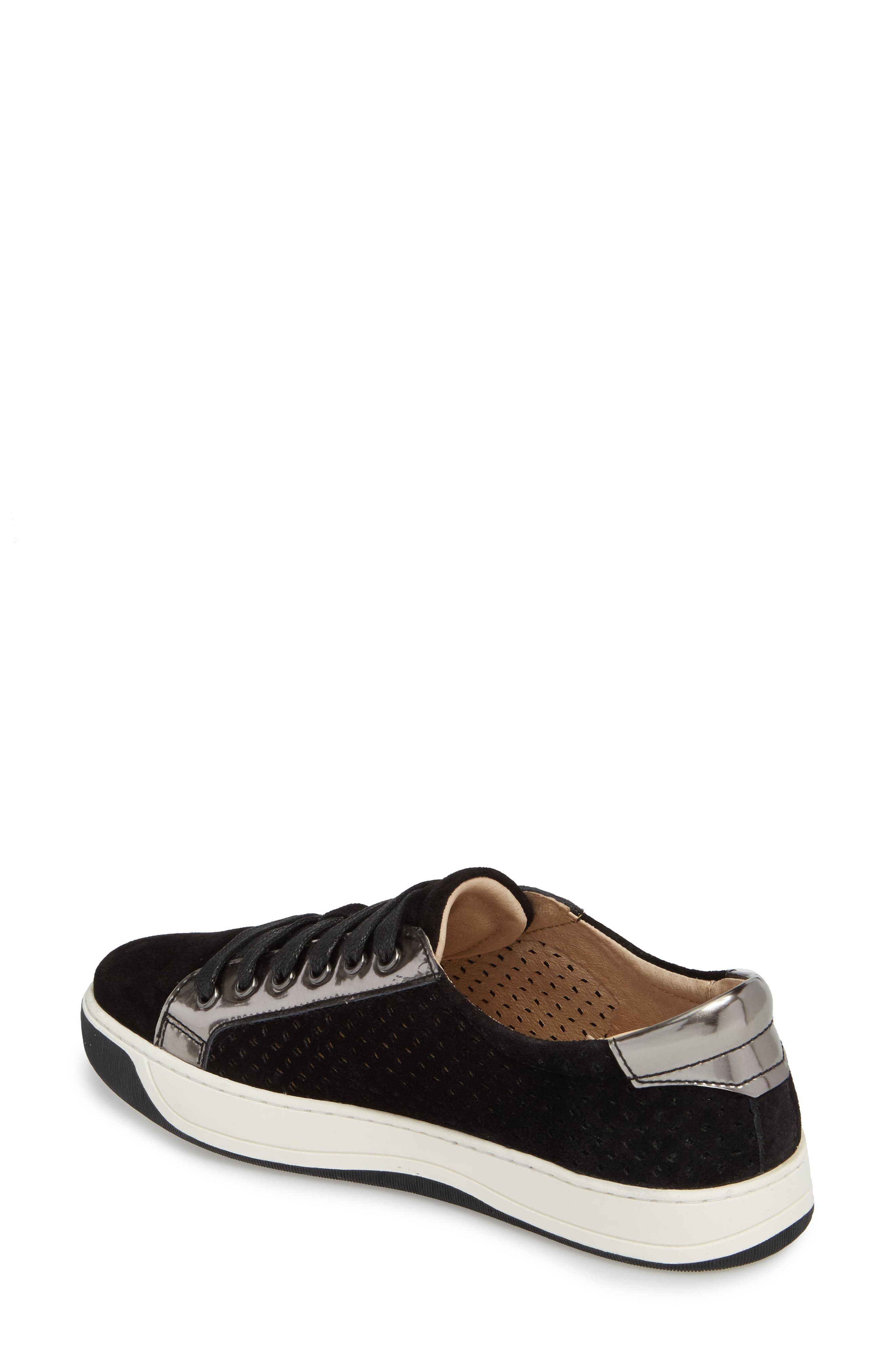 Emerson Perforated Sneaker,                             Alternate thumbnail 2, color,                             001