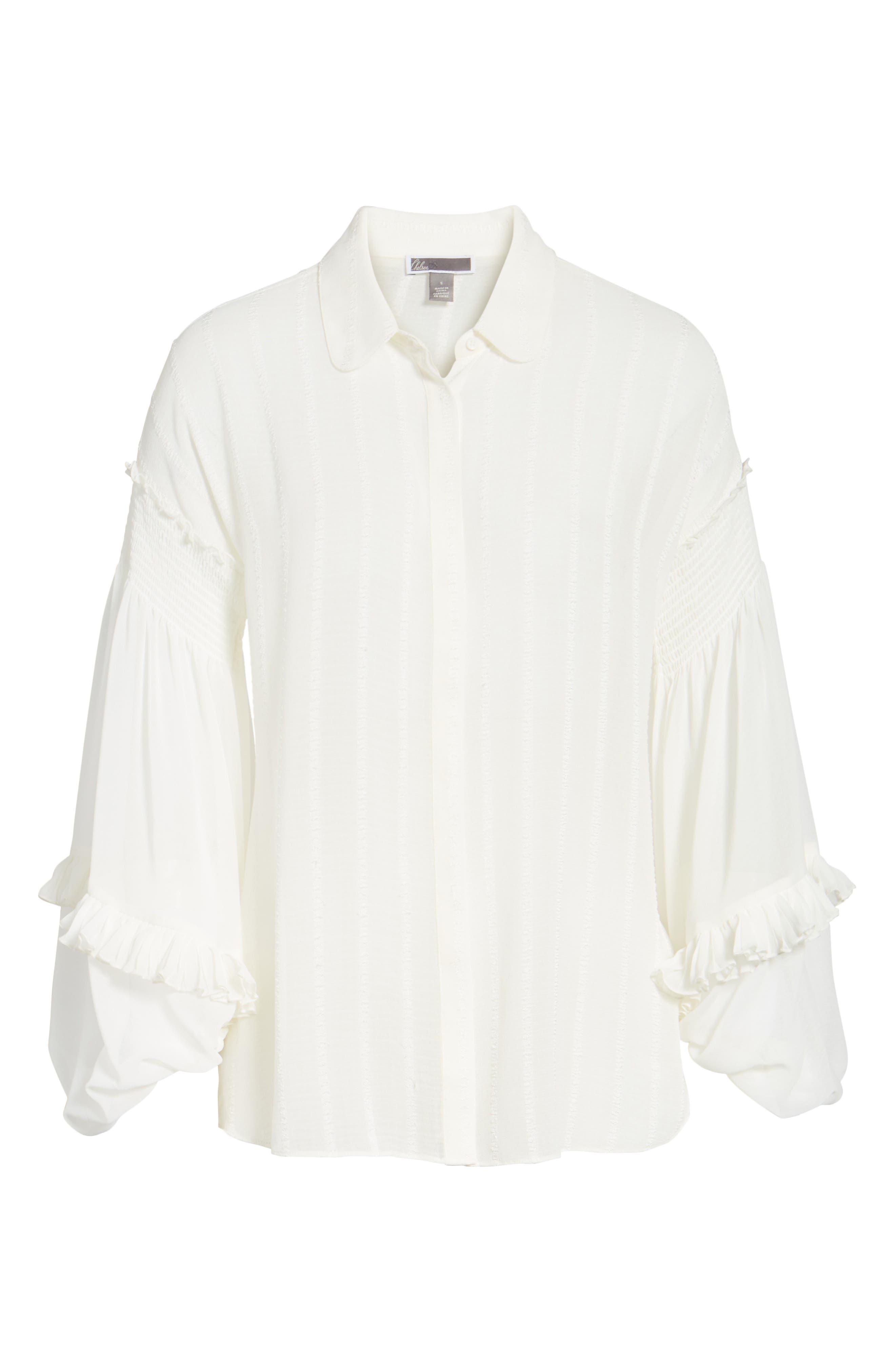 Bloused Sleeve Shirt,                             Alternate thumbnail 6, color,
