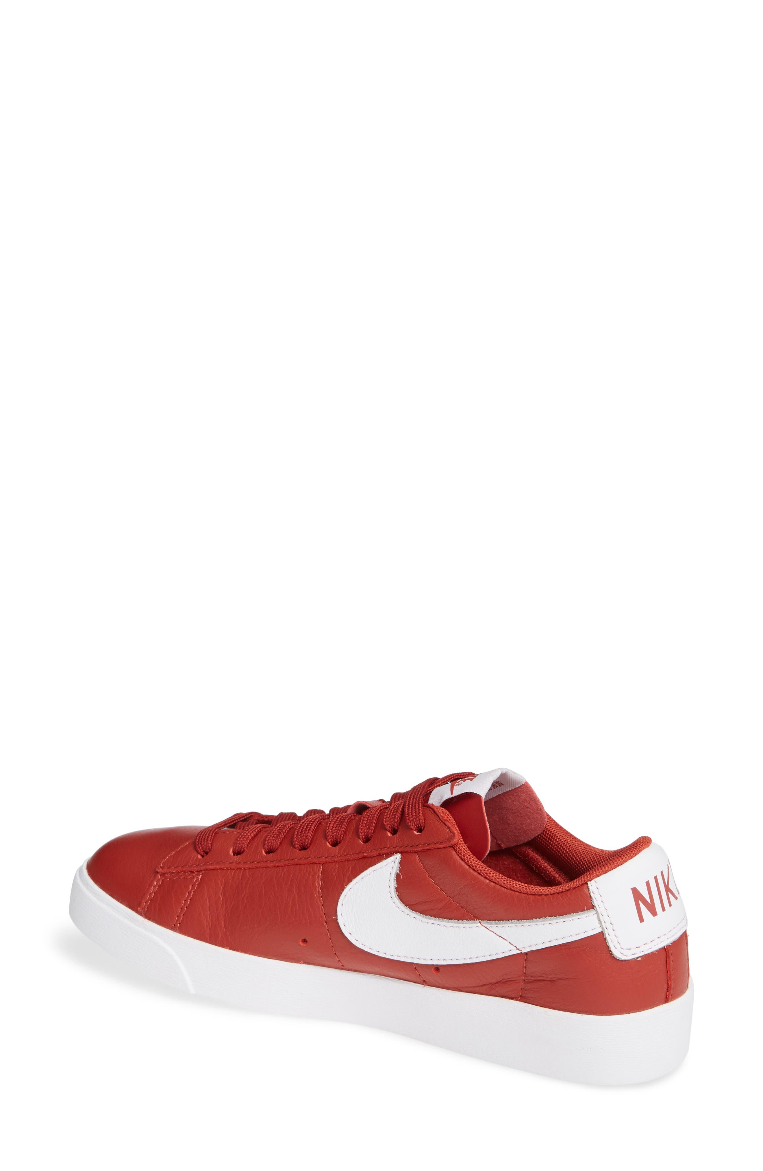 Blazer Low SE Sneaker,                             Alternate thumbnail 2, color,                             DUNE RED/ WHITE-DUNE RED