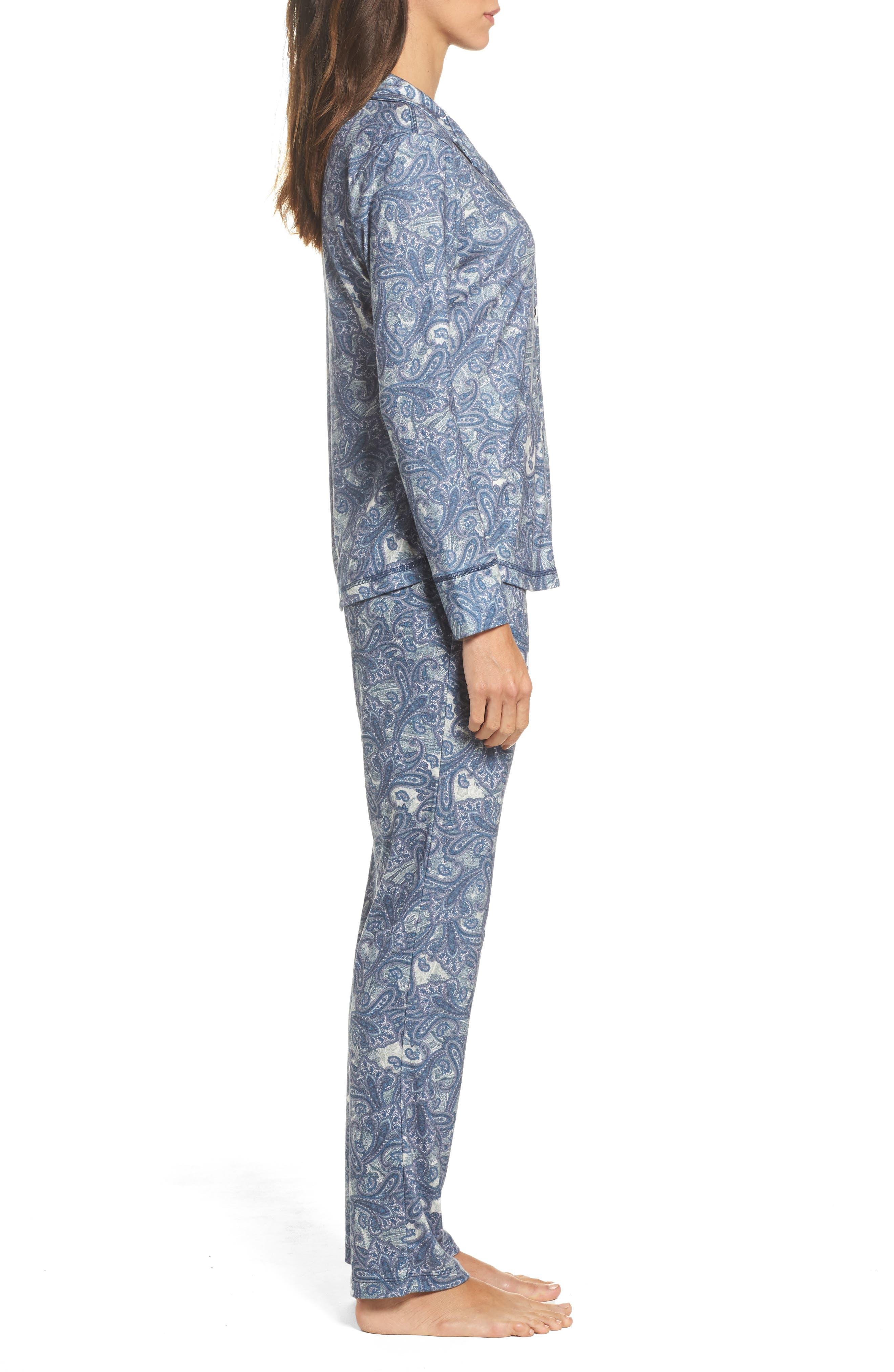 Clara Flannel Pajamas,                             Alternate thumbnail 3, color,                             400