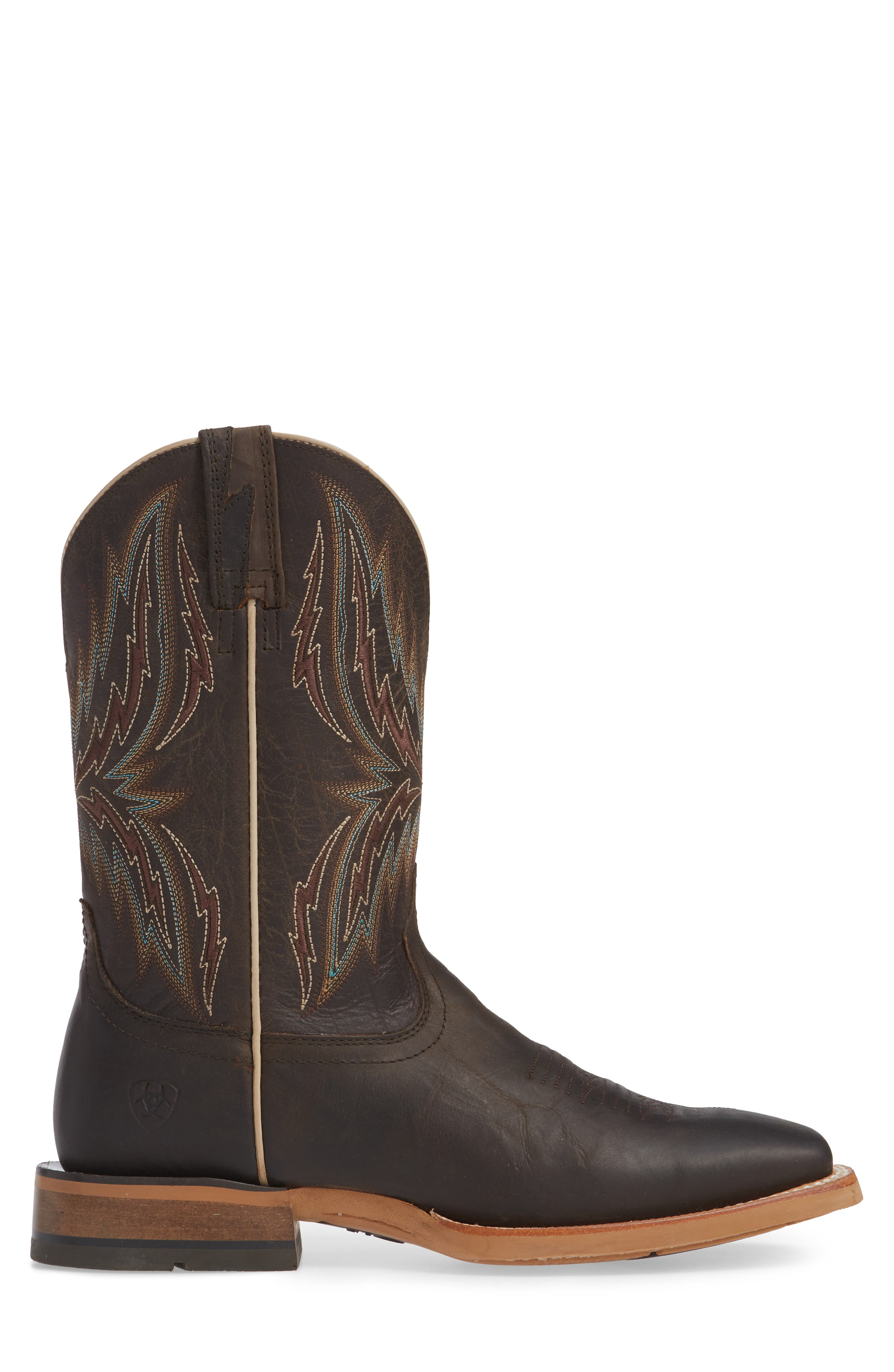 Arena Rebound Cowboy Boot,                             Alternate thumbnail 3, color,                             BROWN/ DESERT LEATHER