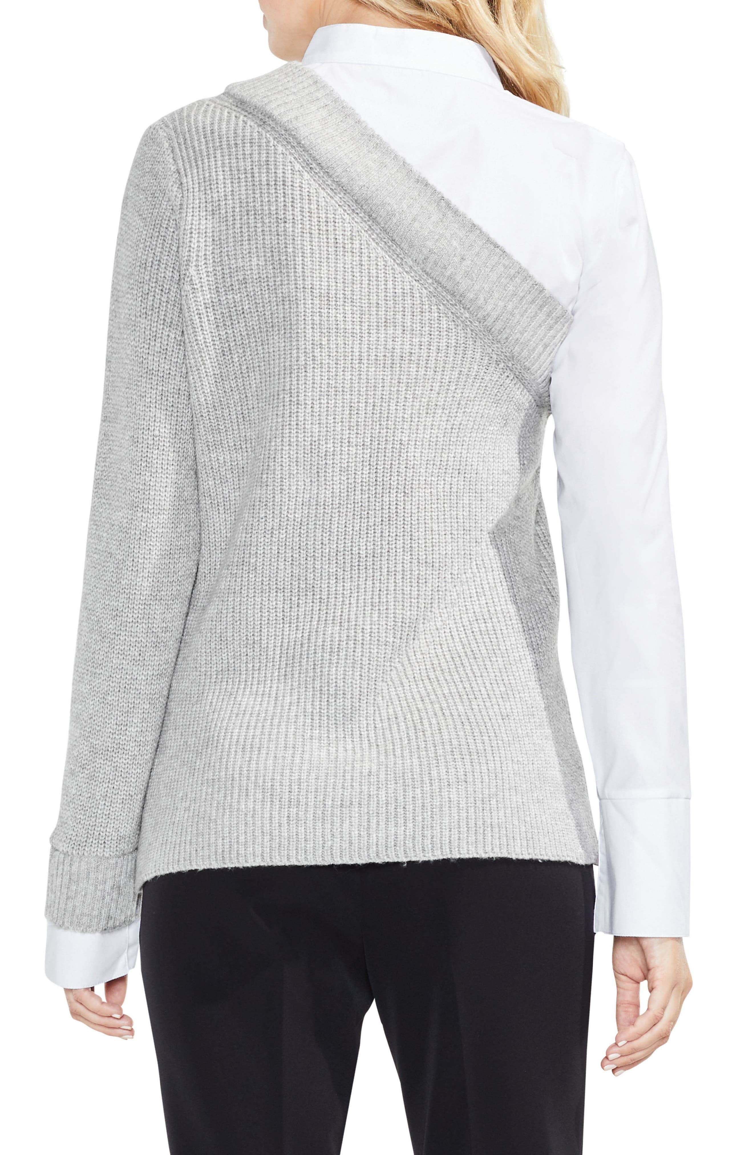 Mix Media Layered Sweater,                             Alternate thumbnail 4, color,