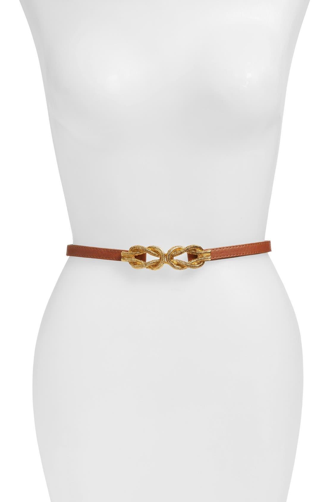 'Lillian' Belt,                         Main,                         color, COGNAC