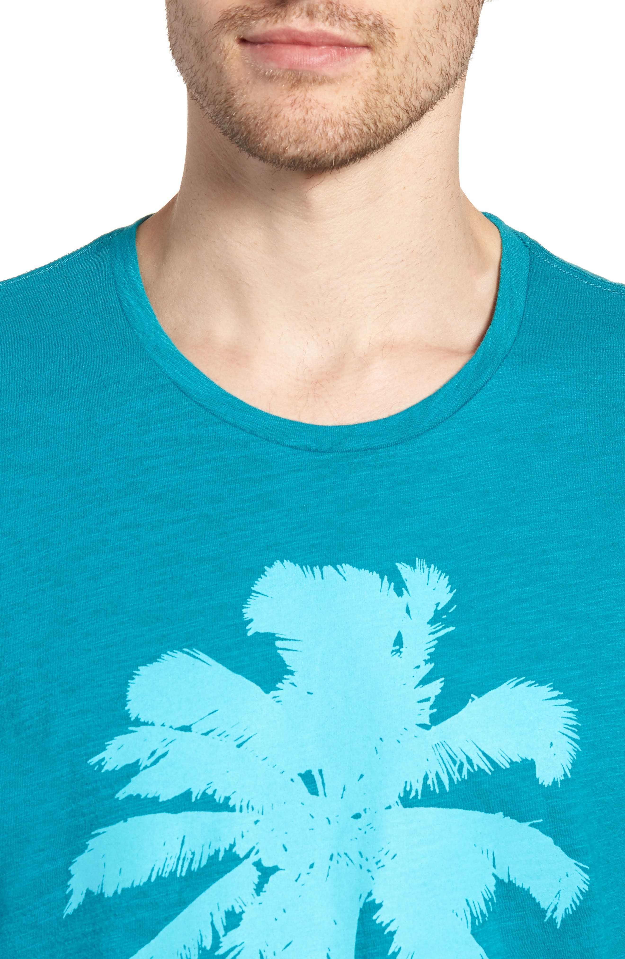 Palm Print T-Shirt,                             Alternate thumbnail 4, color,                             300