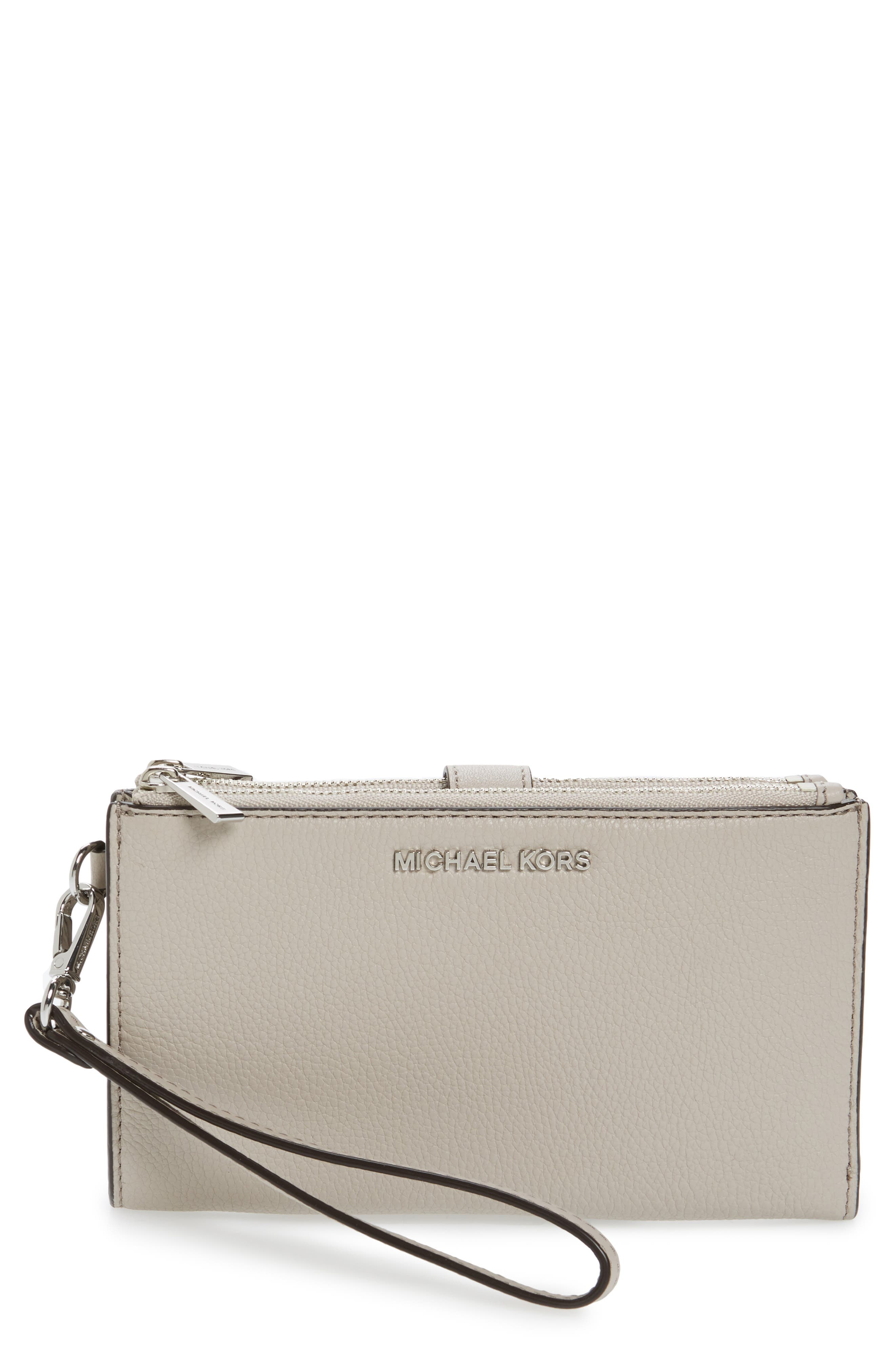 Adele Leather Wristlet,                             Main thumbnail 8, color,