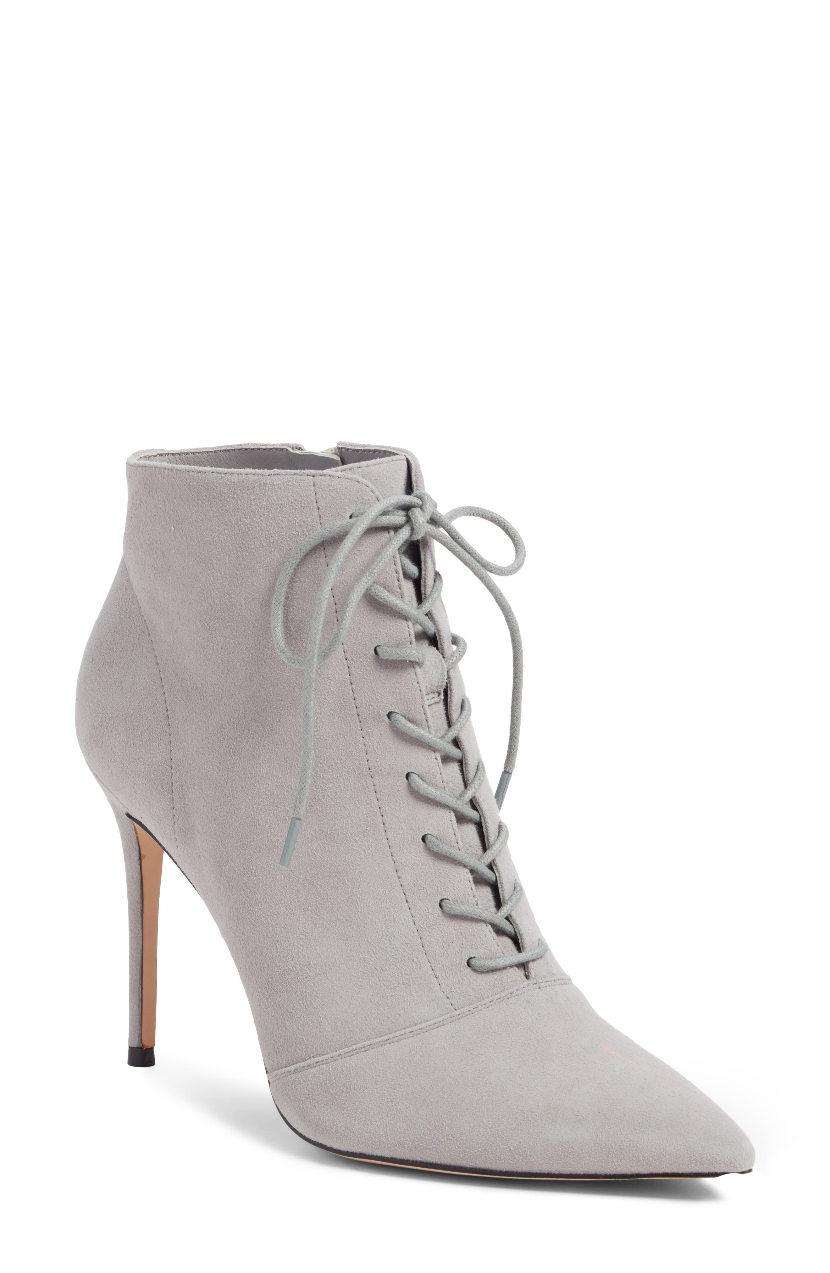Something Navy Orchid Leather Bootie