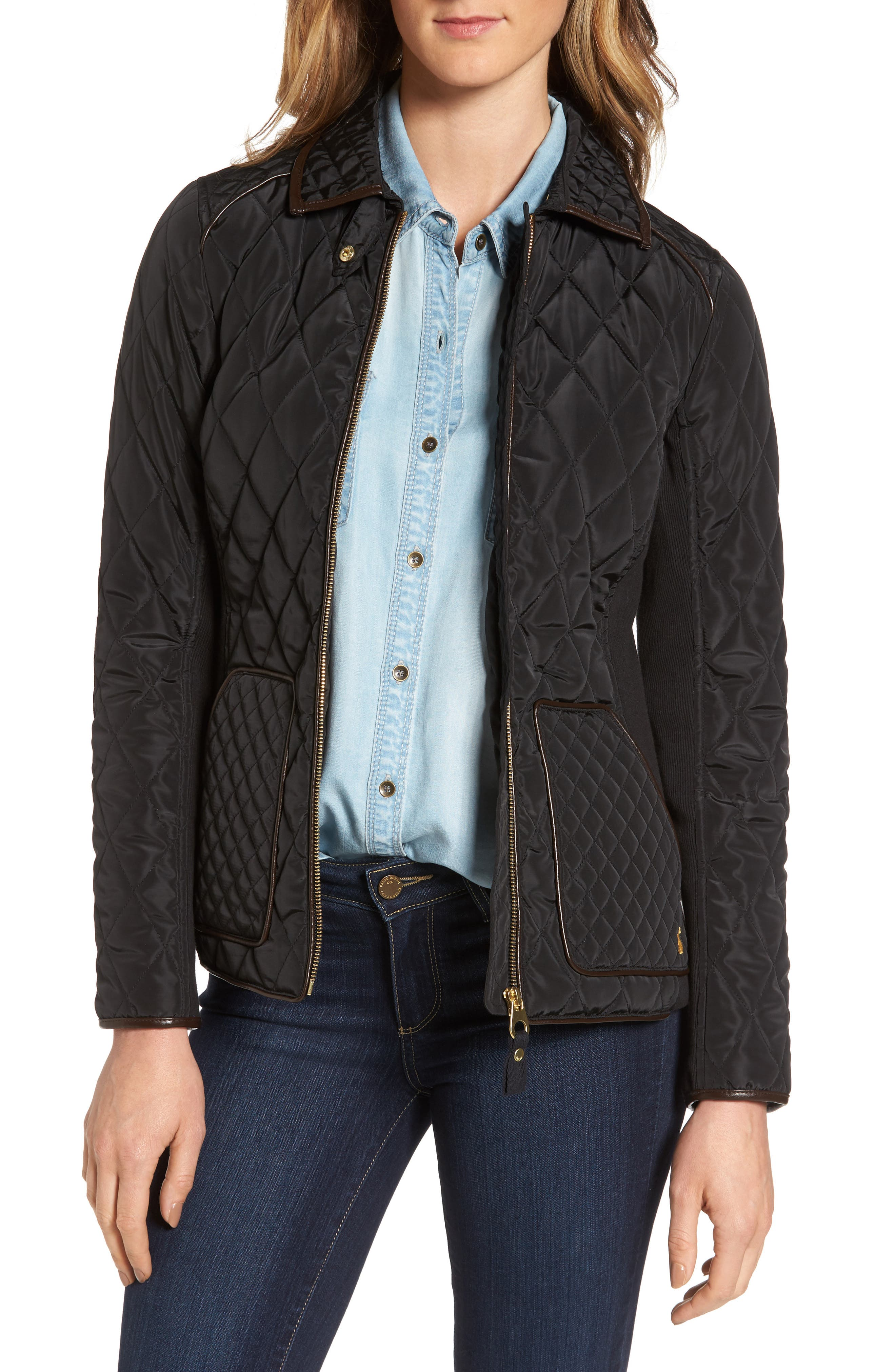 Warm Welcome Quilted Jacket,                         Main,                         color, 001