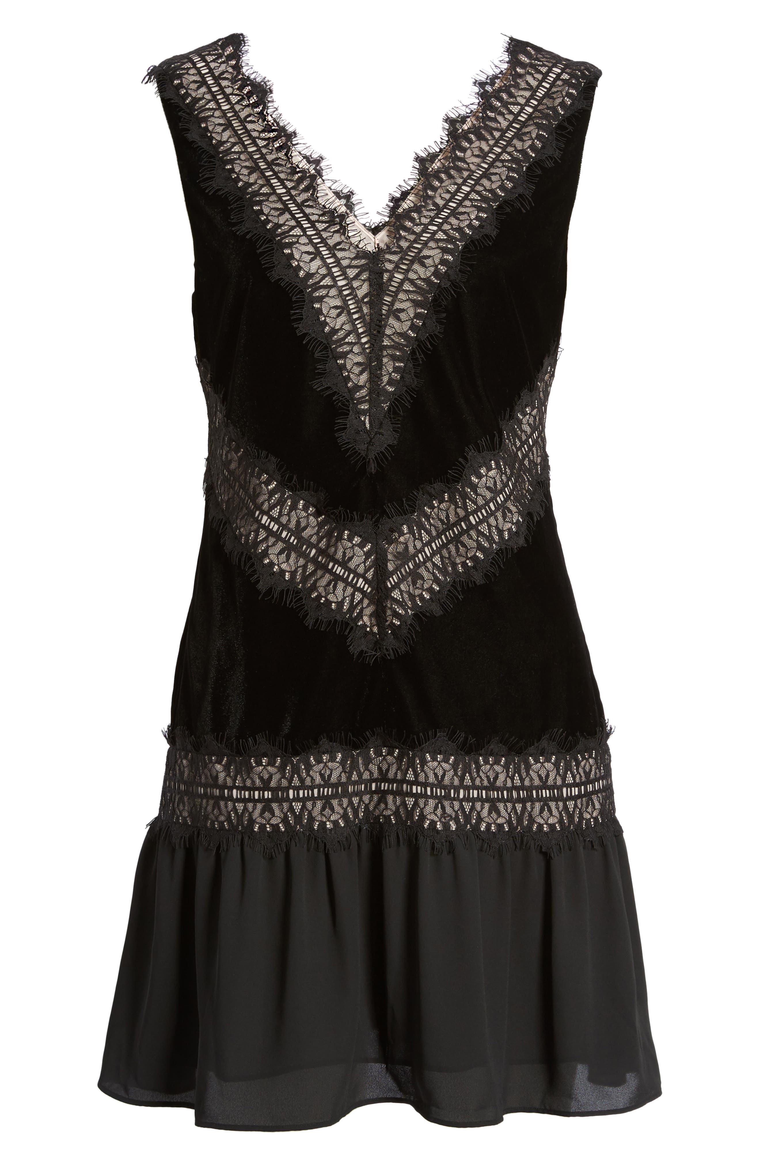 Velvet & Lace Dress,                             Alternate thumbnail 2, color,