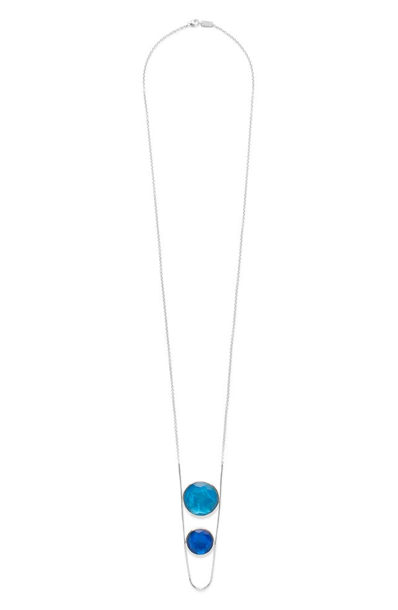 Wonderland Pendant Necklace,                             Main thumbnail 1, color,                             BLUE