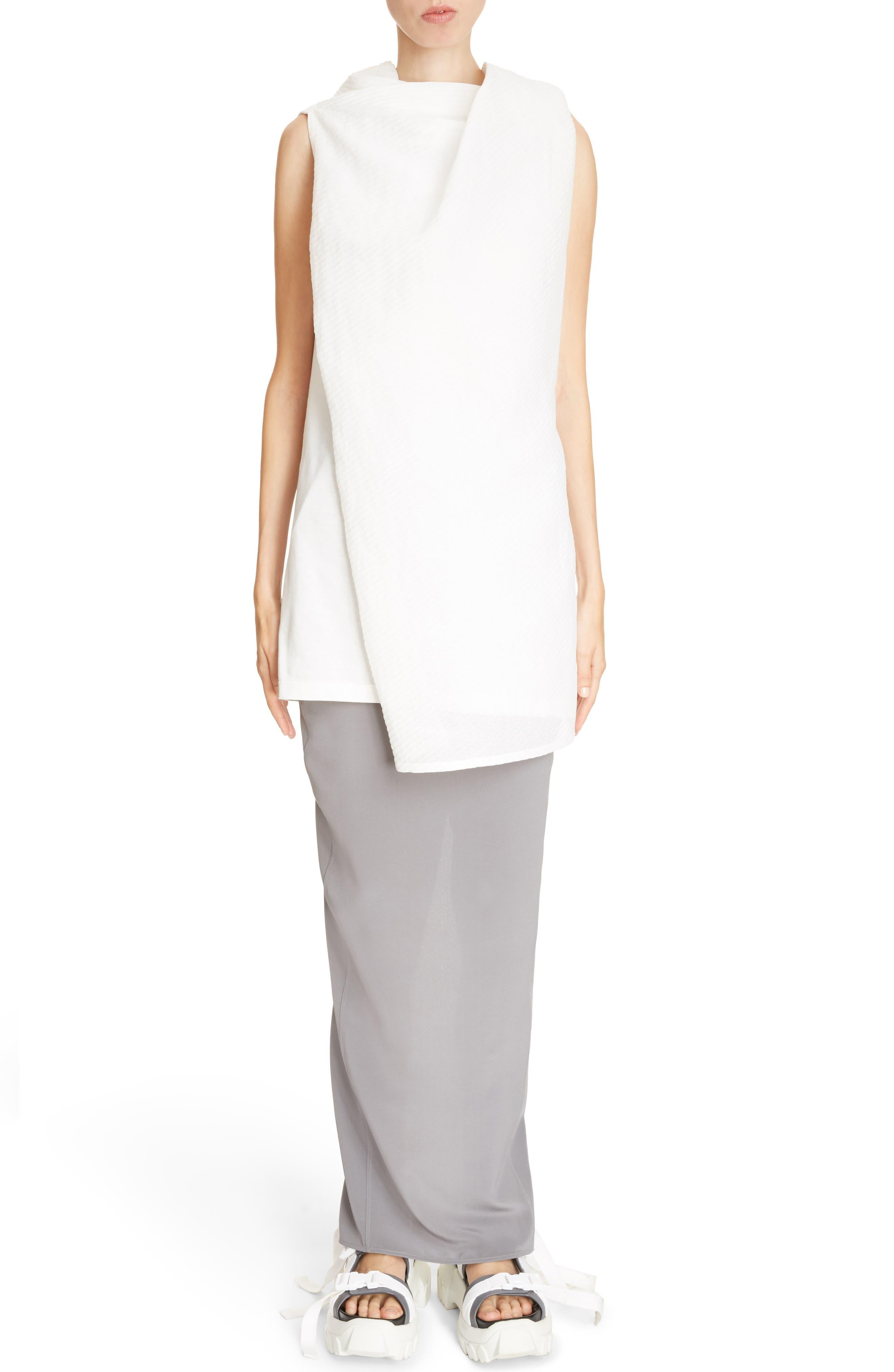 Split Back Silk Skirt,                             Alternate thumbnail 6, color,                             020
