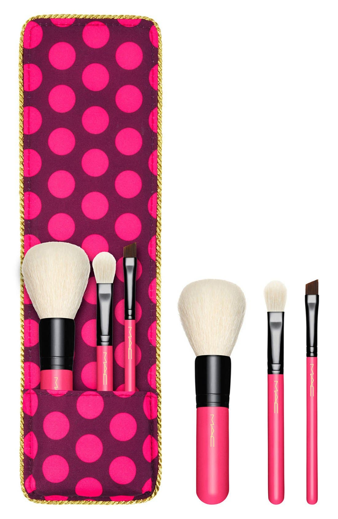 MAC Nutcracker Sweet Mini Essential Brush Kit,                             Main thumbnail 1, color,                             000