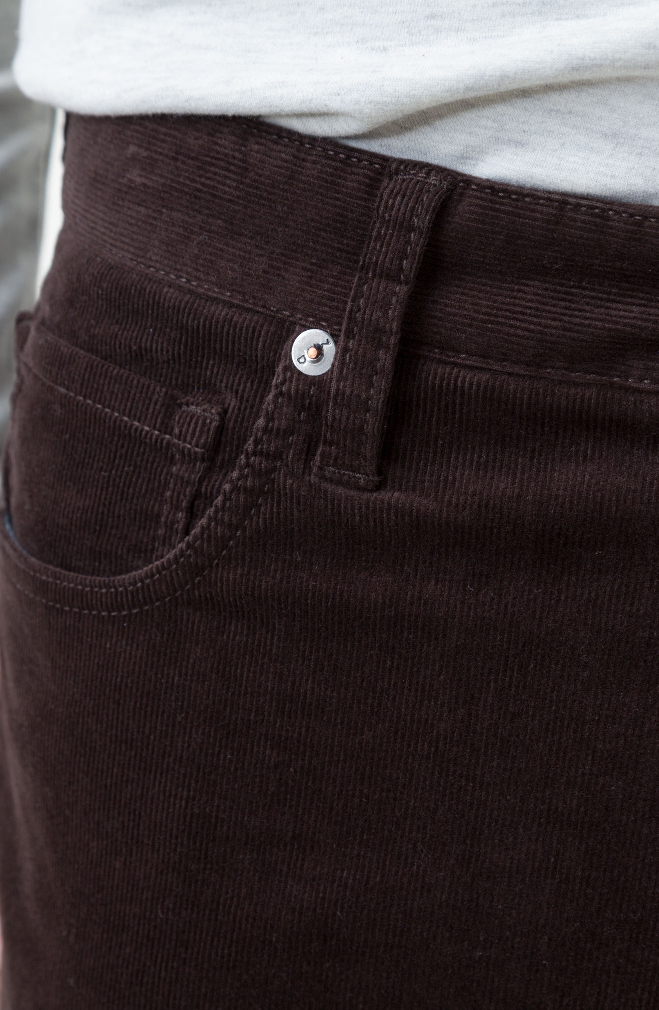 Courtland Slim Fit Corduroy Pants,                             Alternate thumbnail 3, color,                             MOCHA BROWN