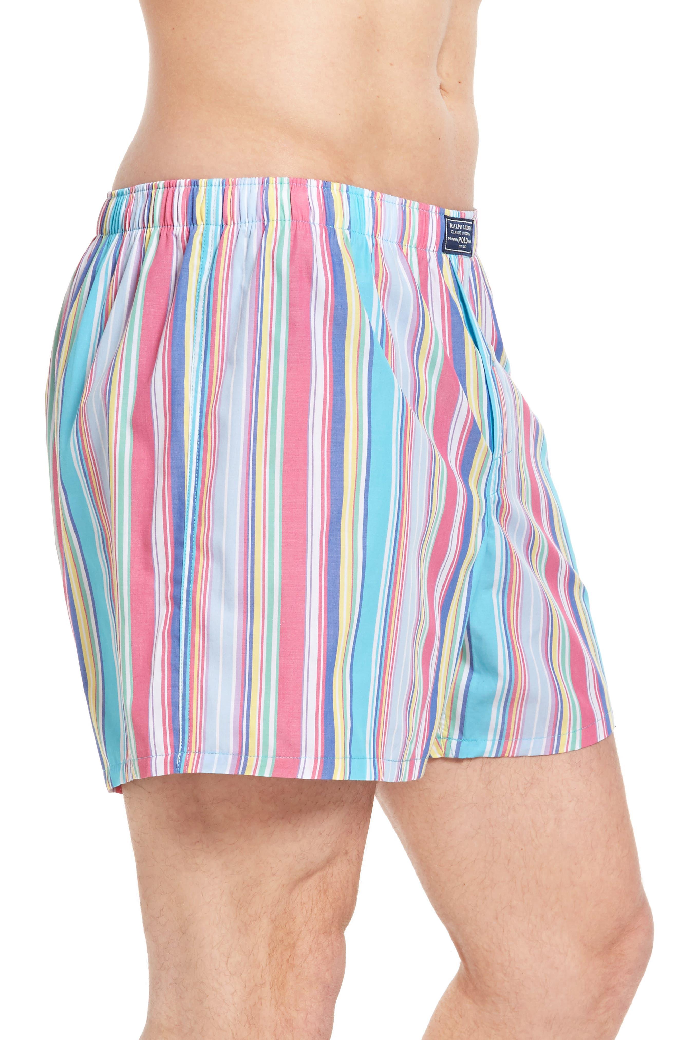 Stripe Cotton Boxers,                             Alternate thumbnail 11, color,
