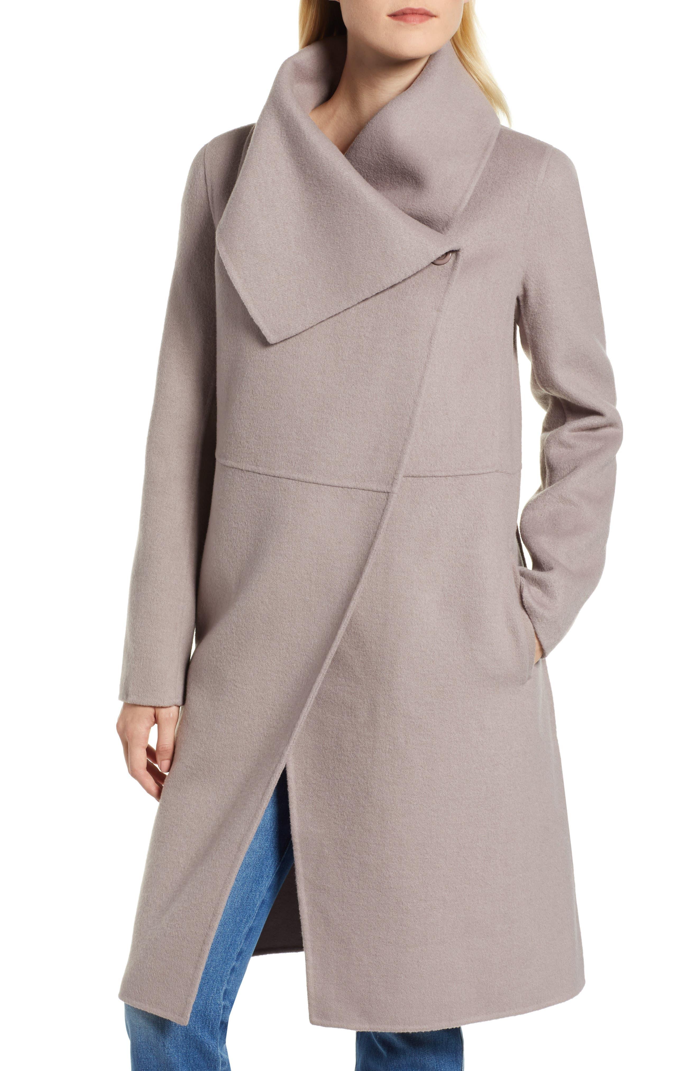 Double Faced Shawl Coat,                             Alternate thumbnail 4, color,                             420