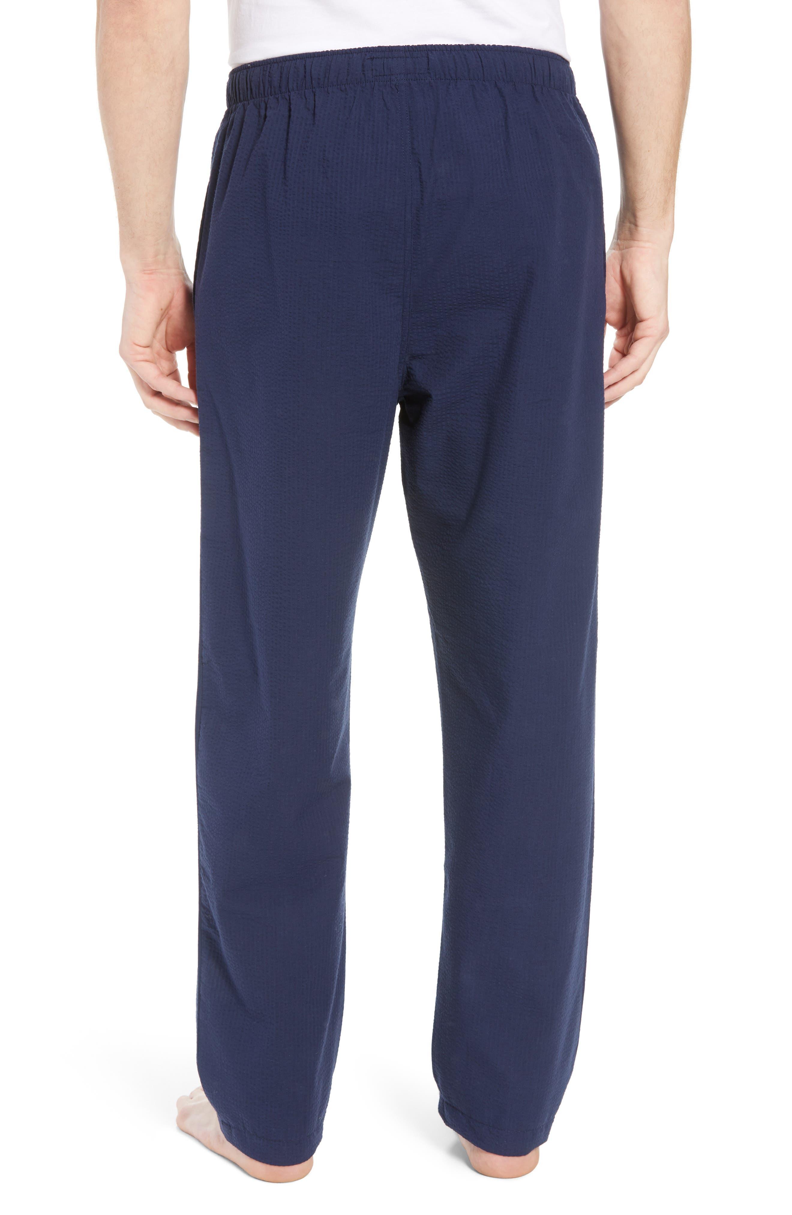 Seersucker Pajama Pants,                             Alternate thumbnail 2, color,                             NAVY SEERSUCKER