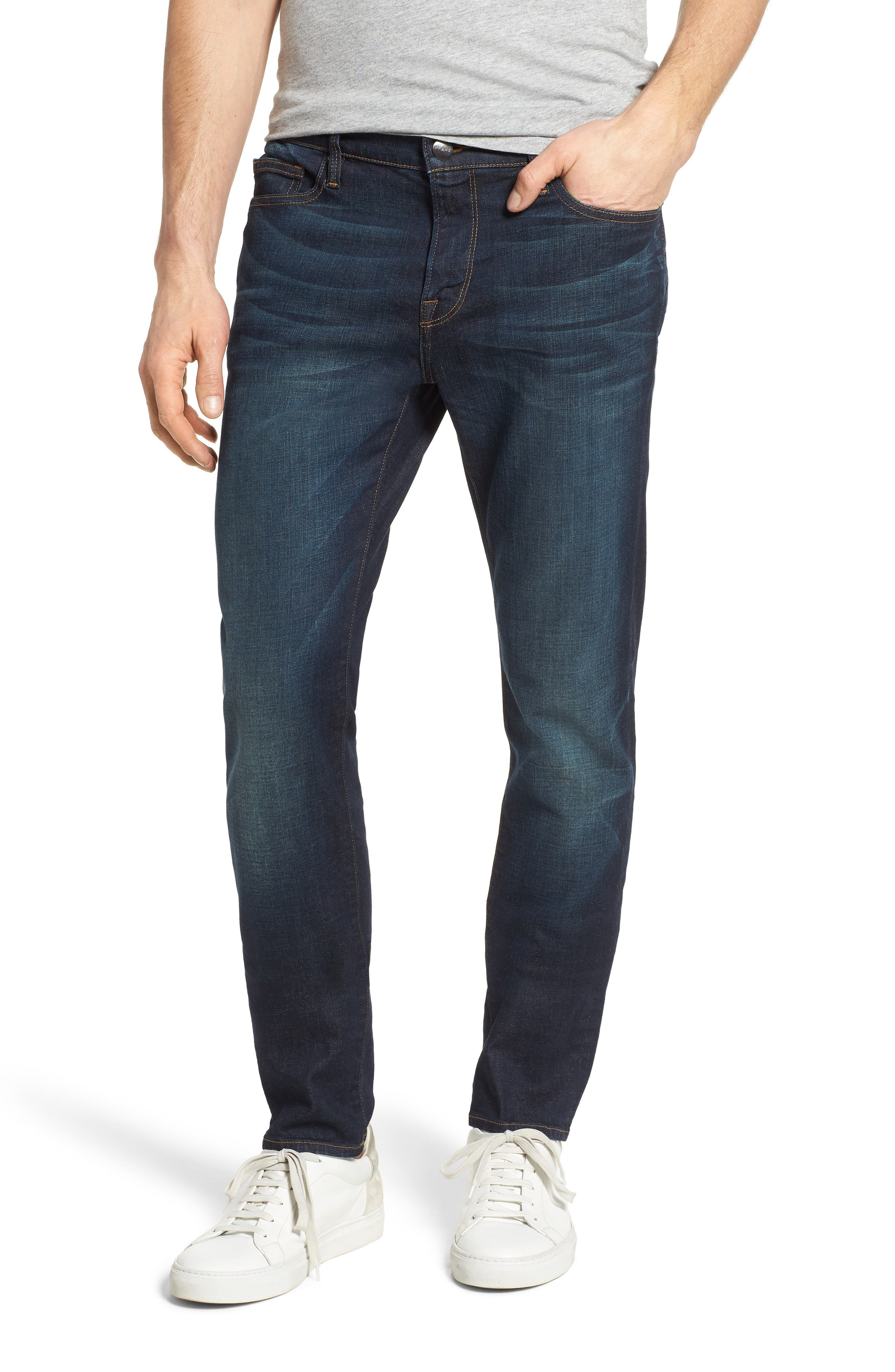 L'Homme Skinny Fit Jeans,                             Alternate thumbnail 2, color,