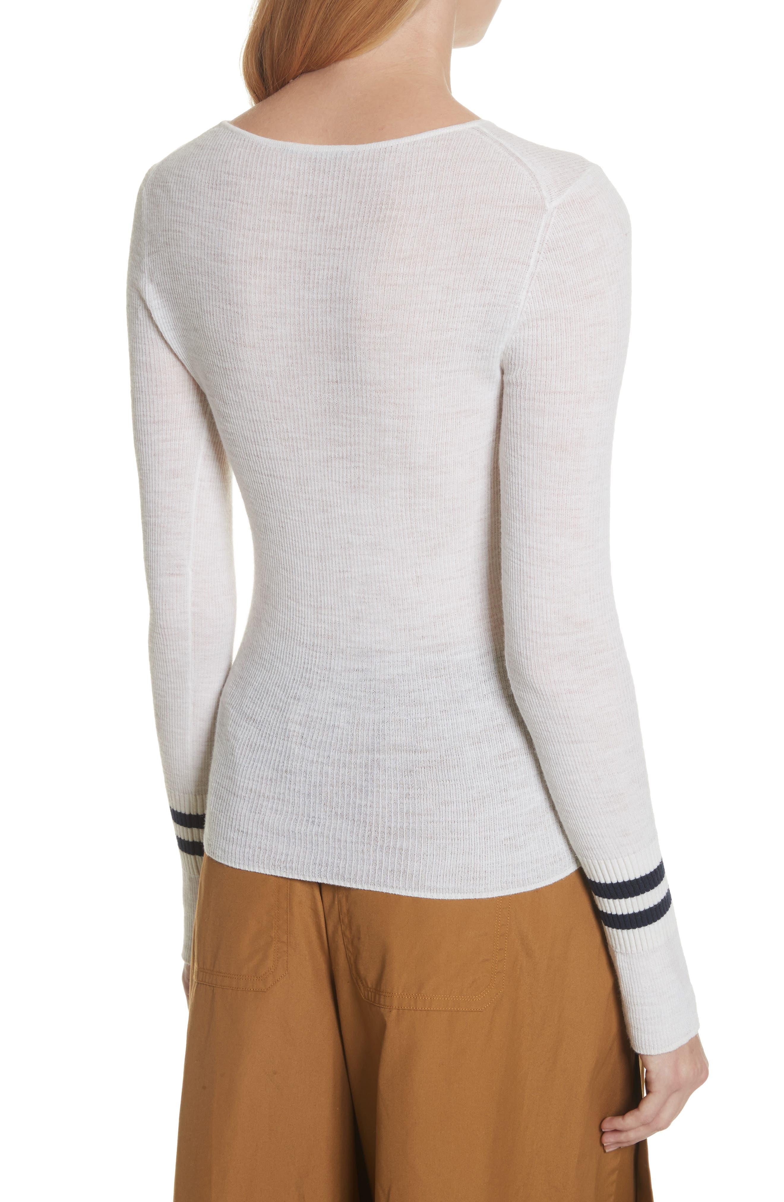 Stripe Cuff Wool Sweater,                             Alternate thumbnail 2, color,                             170