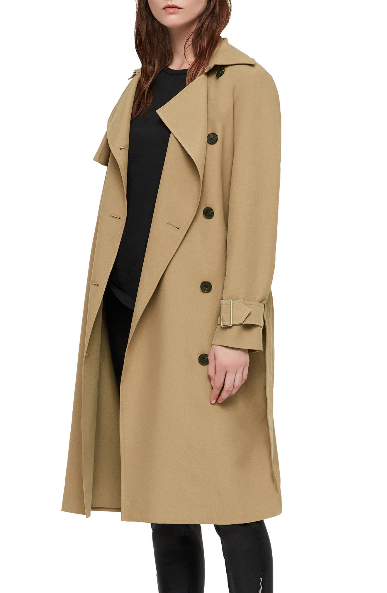 Myla Trench Coat,                             Alternate thumbnail 3, color,                             200