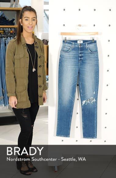Sarah Ripped High Waist Ankle Straight Leg Jeans, sales video thumbnail