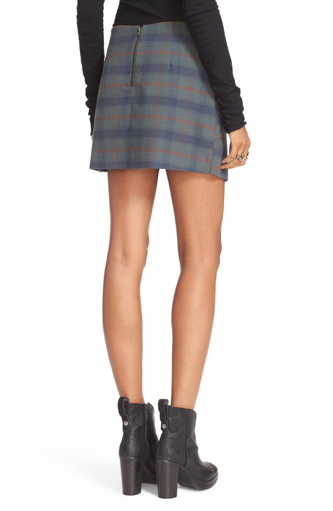 Teenage Crush Plaid Miniskirt,                             Alternate thumbnail 2, color,                             300