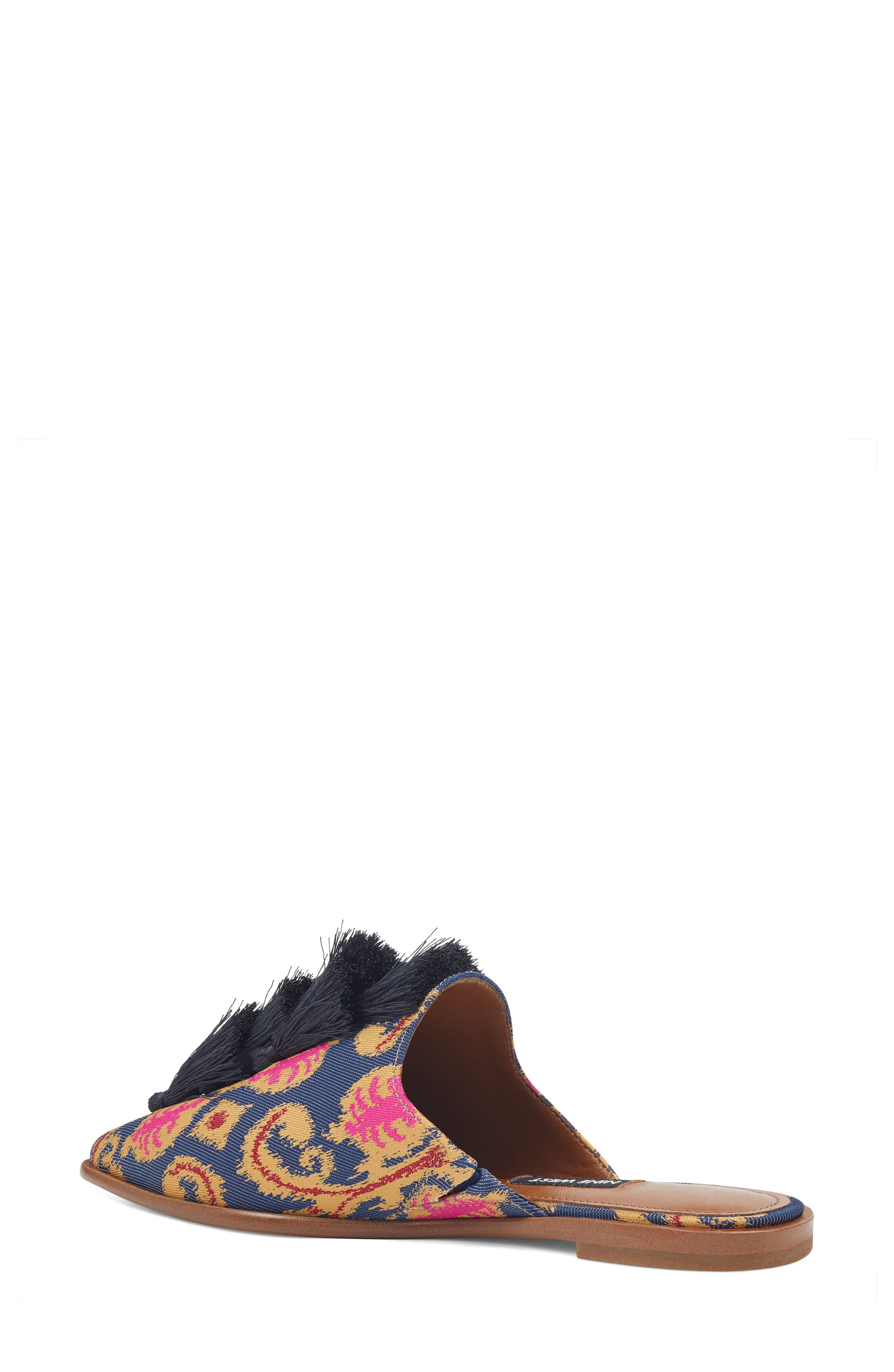 Ollial Fringed Loafer Mule,                             Alternate thumbnail 2, color,                             BLUE MULTI FABRIC