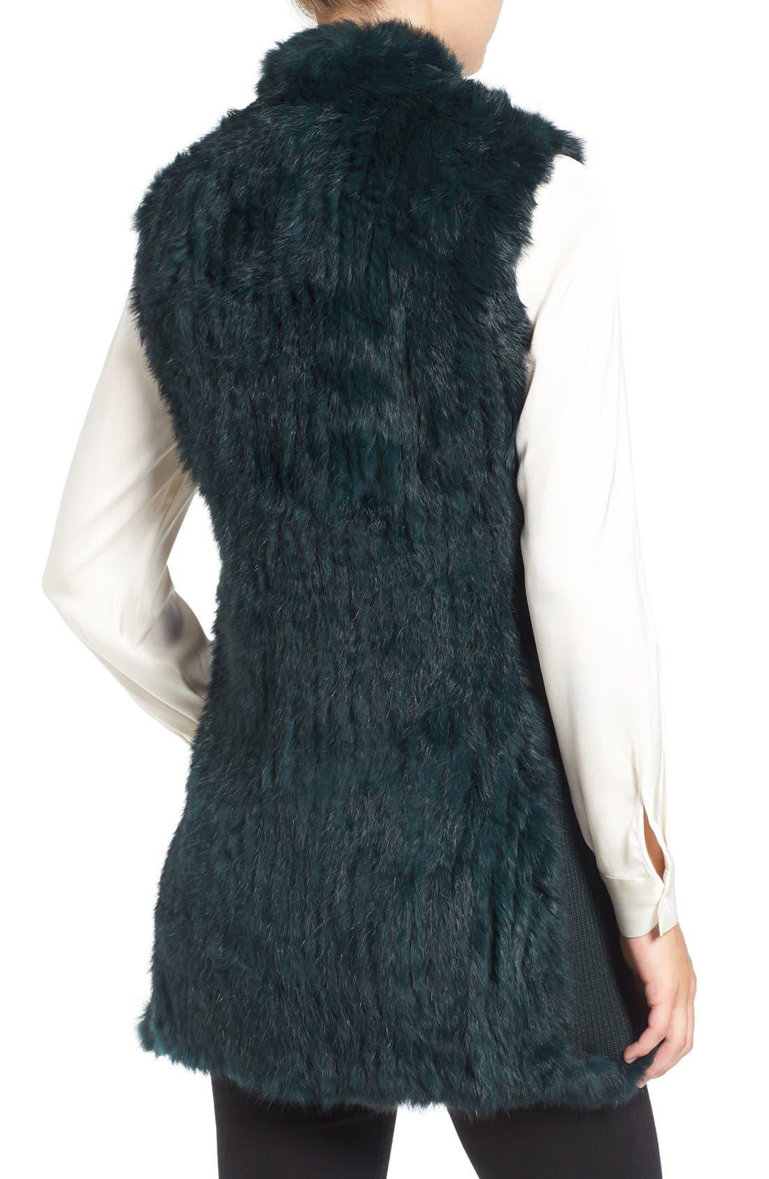 Genuine Rabbit Fur & Knit Vest,                             Alternate thumbnail 12, color,