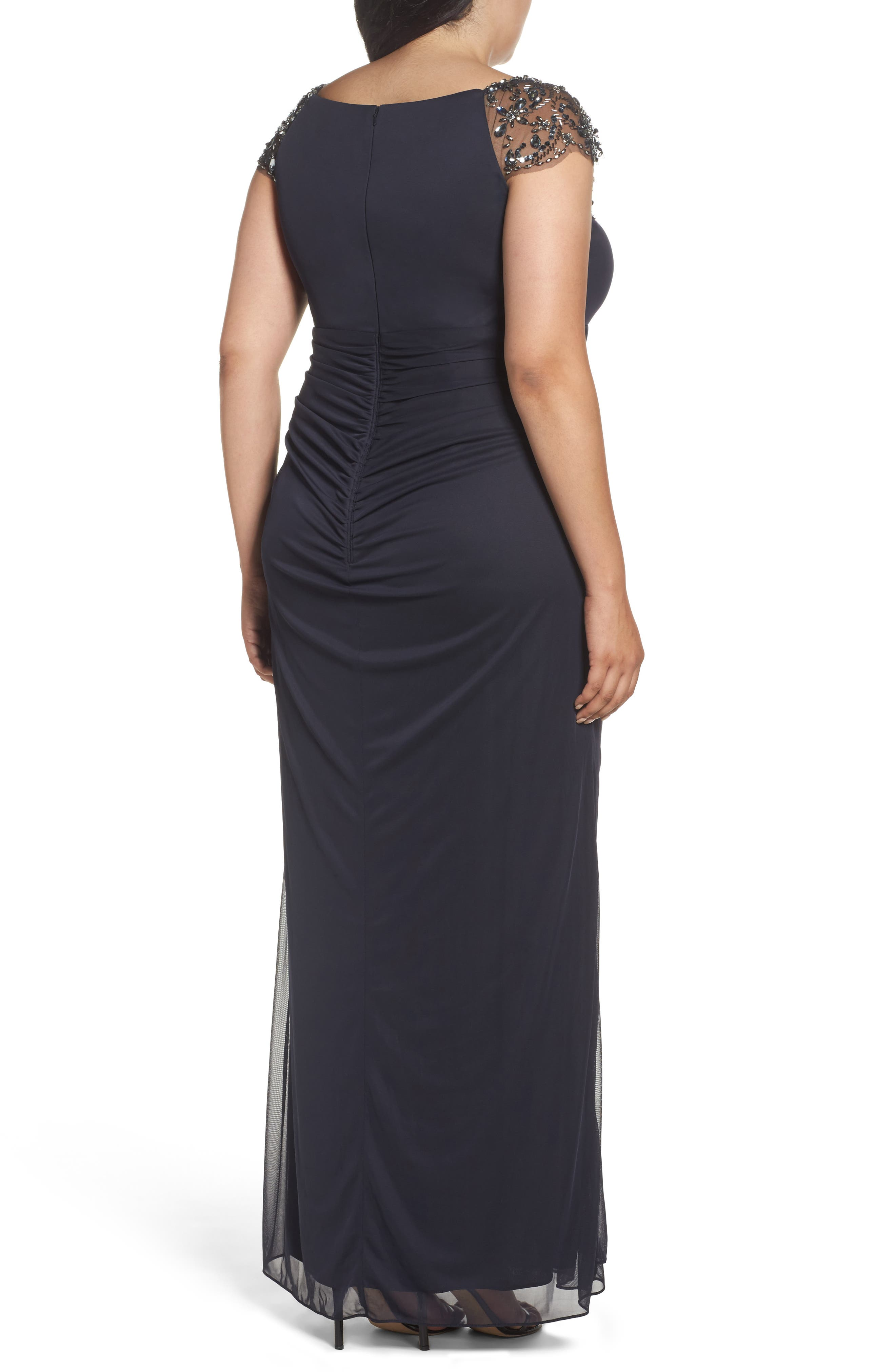 Embellished Jersey Gown,                             Alternate thumbnail 2, color,                             021